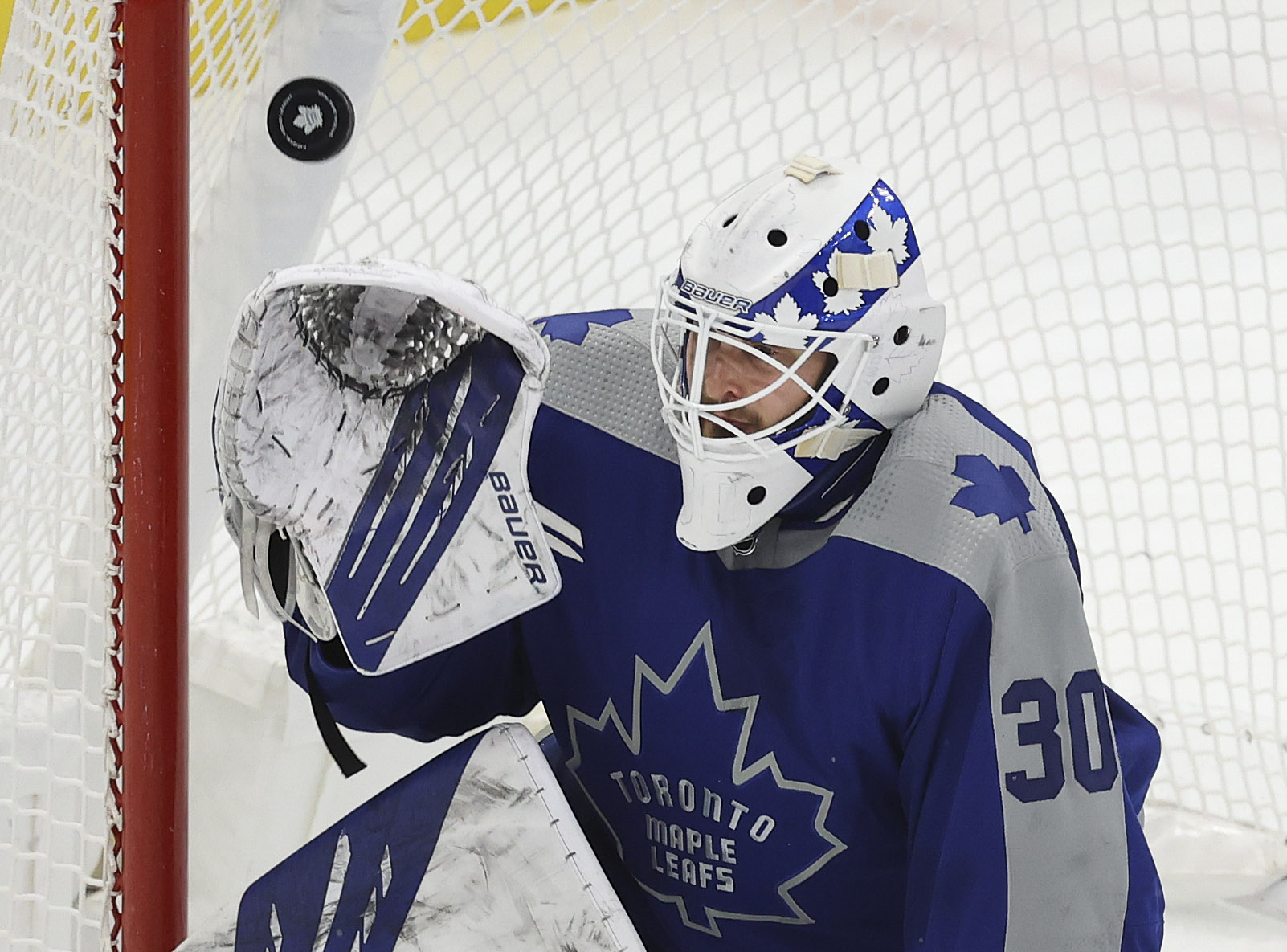 The Toronto Maple Leafs played the Calgary Flames at Scotiabank arena