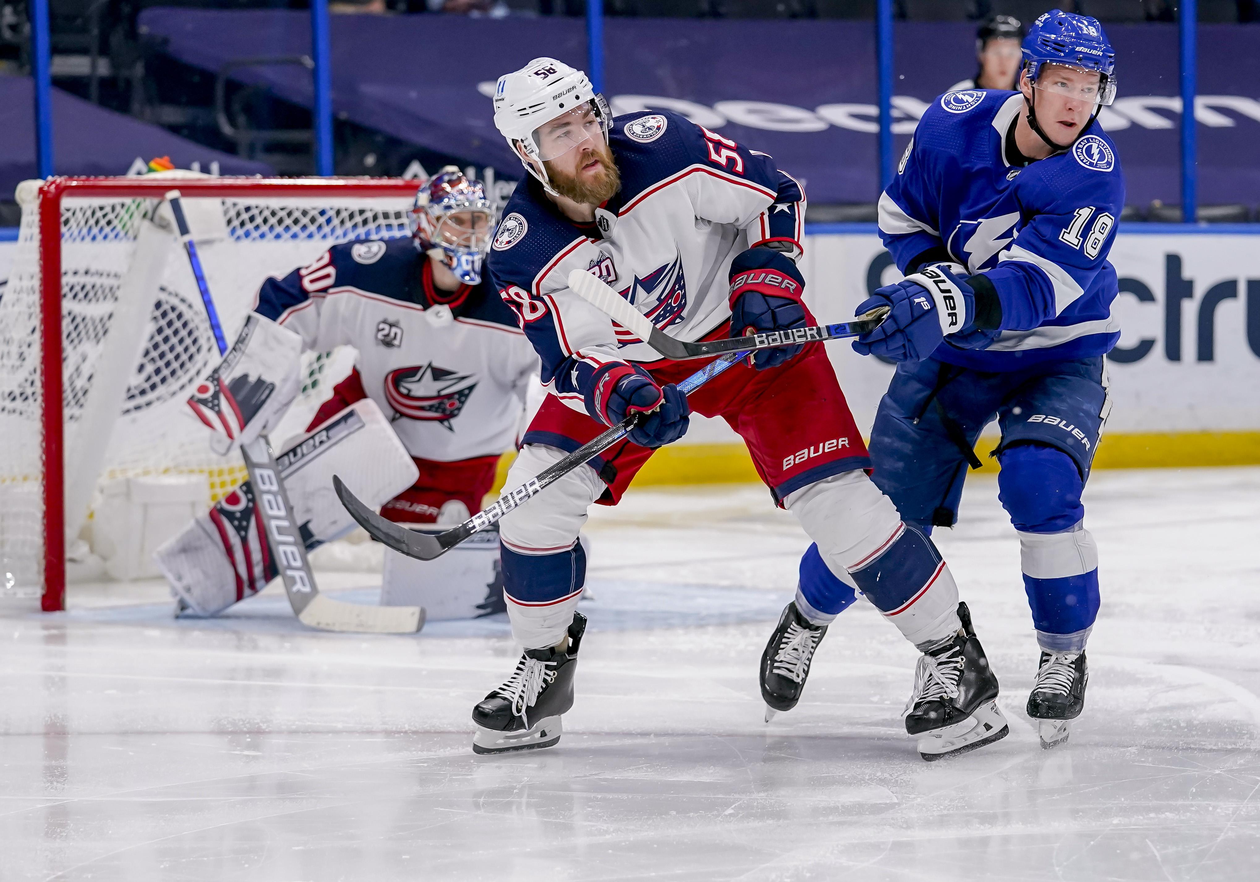 NHL: MAR 30 Blue Jackets at Lightning