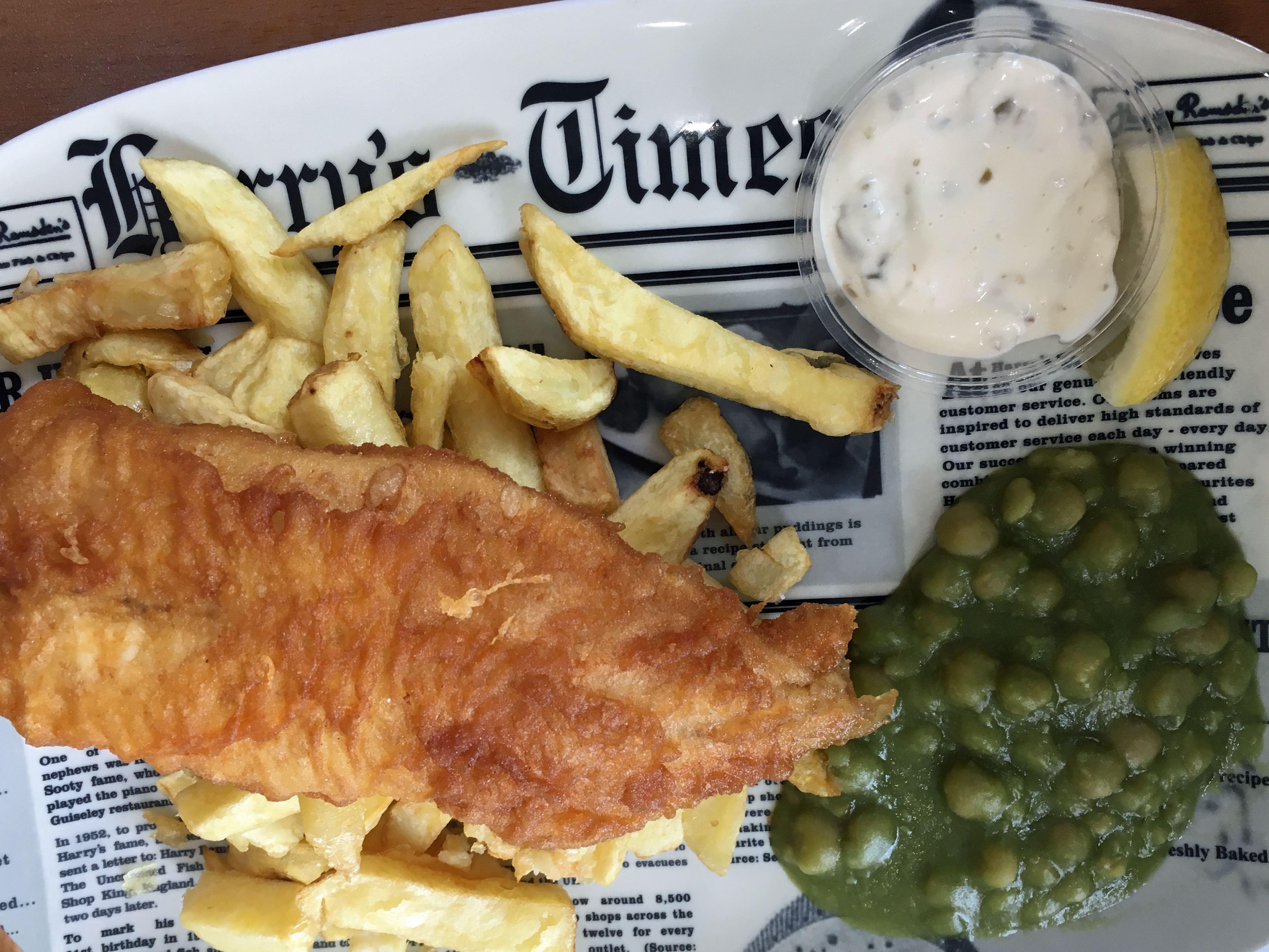 炸鱼和薯条,哈里拉姆斯登,伯恩茅斯,英国