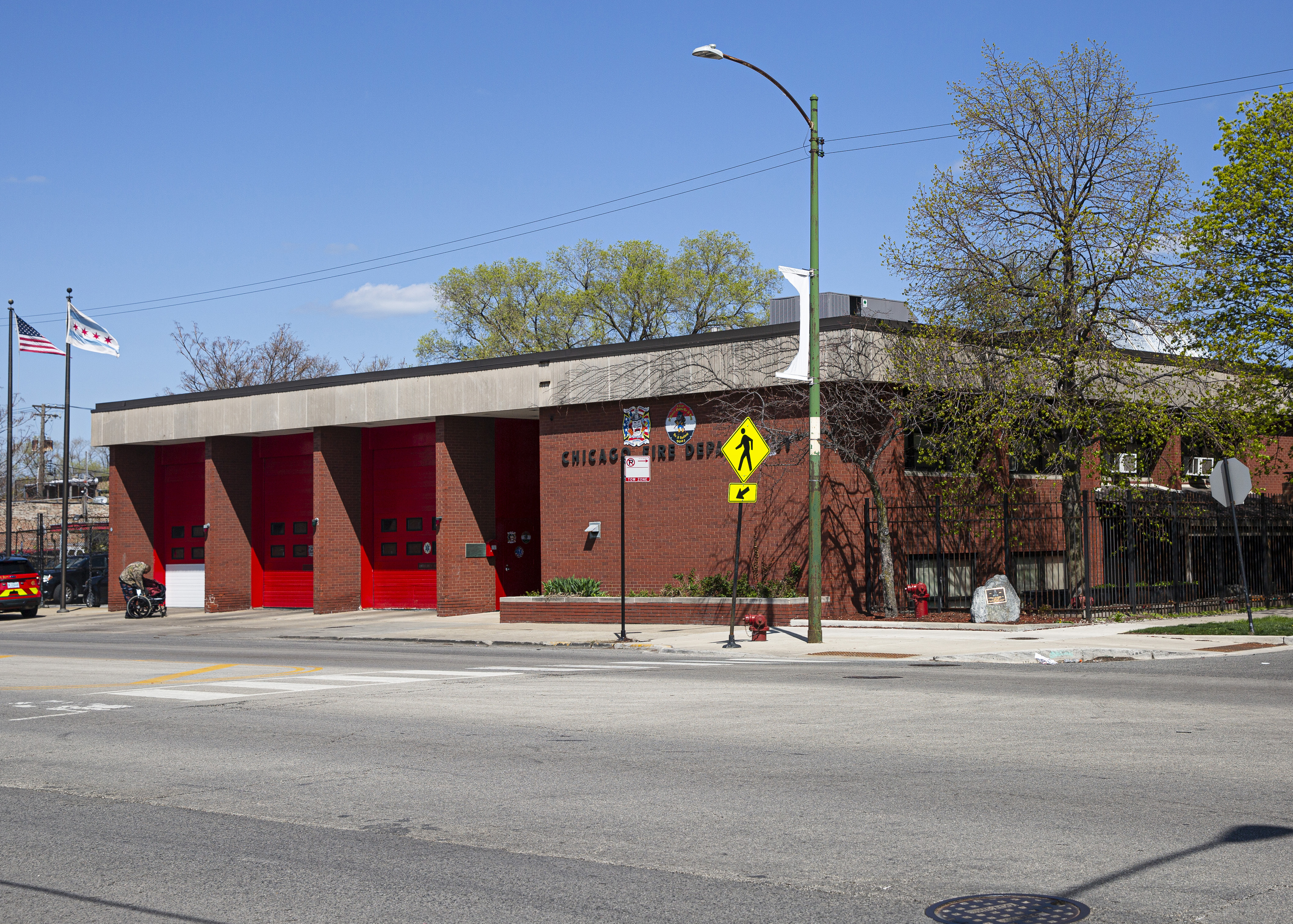 The Chicago Fire Department Engine Company 116 at 5955 S. Ashland Ave in Englewood.