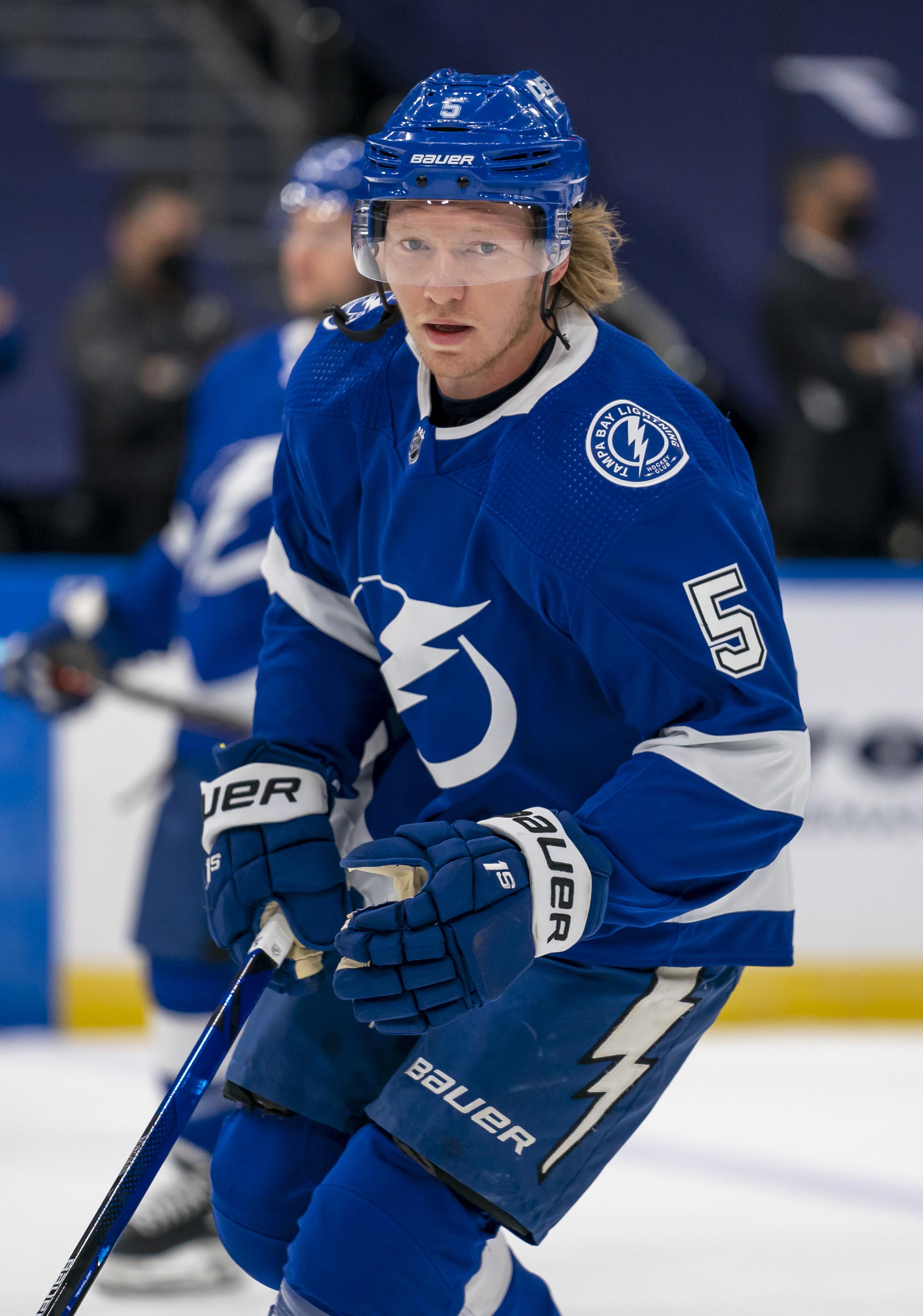 NHL: APR 01 Blue Jackets at Lightning
