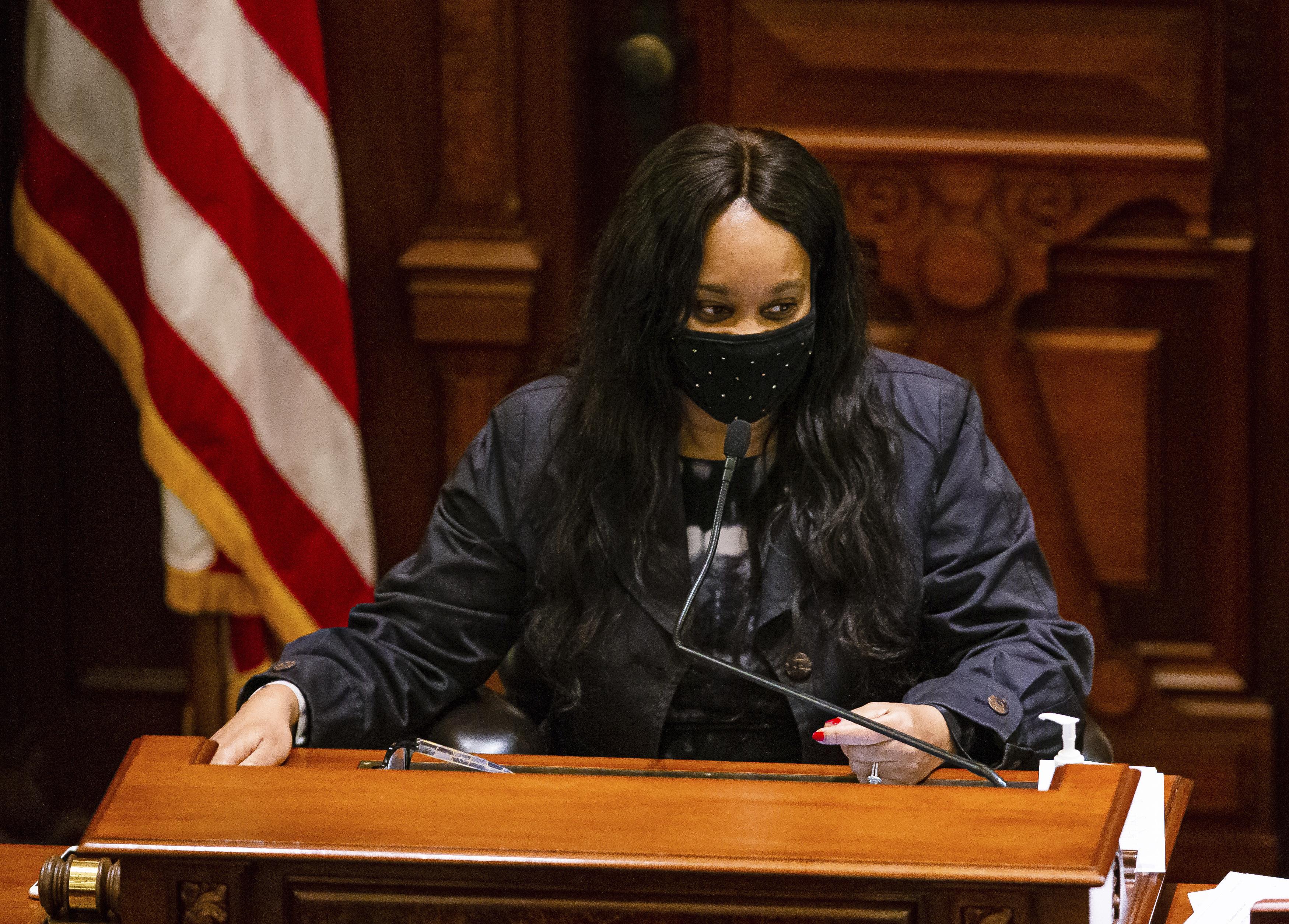 Illinois Senate Majority Leader Kimberly Lightford, D-Maywood, in May.