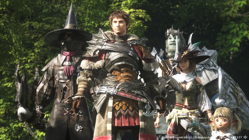 A party of adventurers in Final Fantasy 14