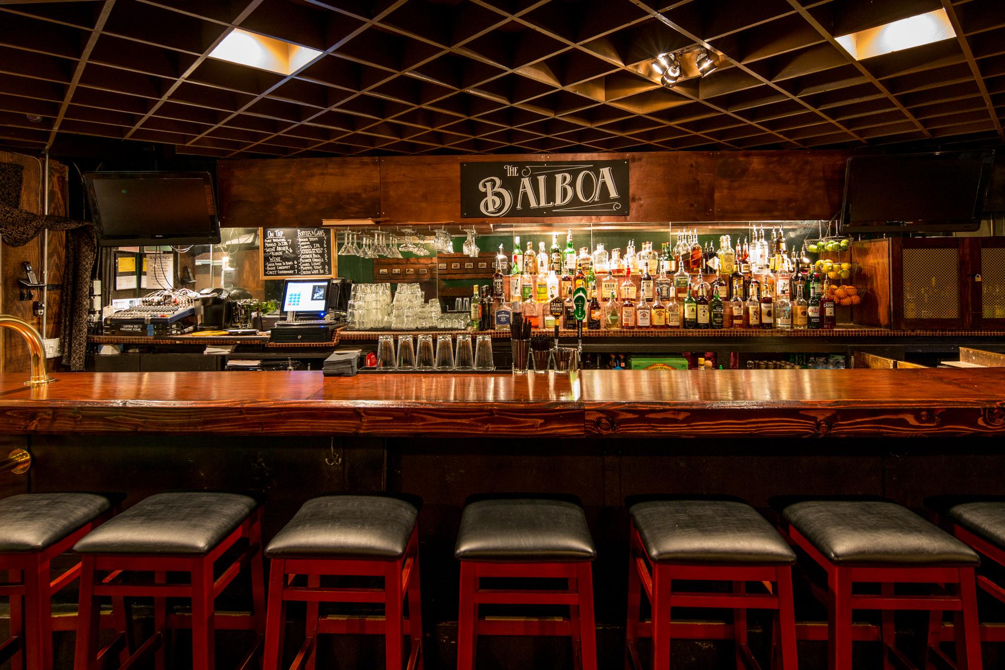 The bar at The Balboa