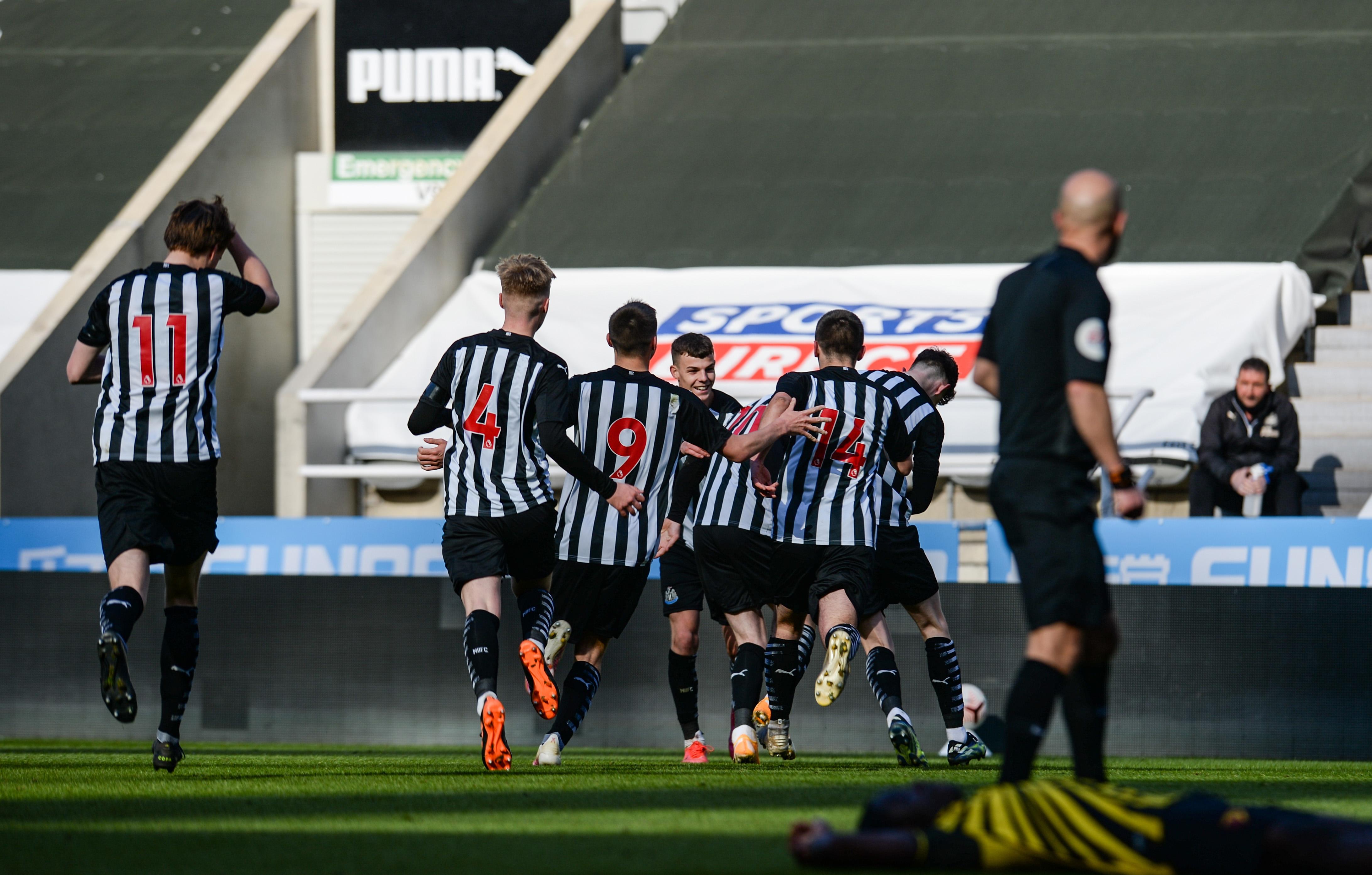 Newcastle United U18 v Watford U18: FA Youth Cup Newcastle Celebrations