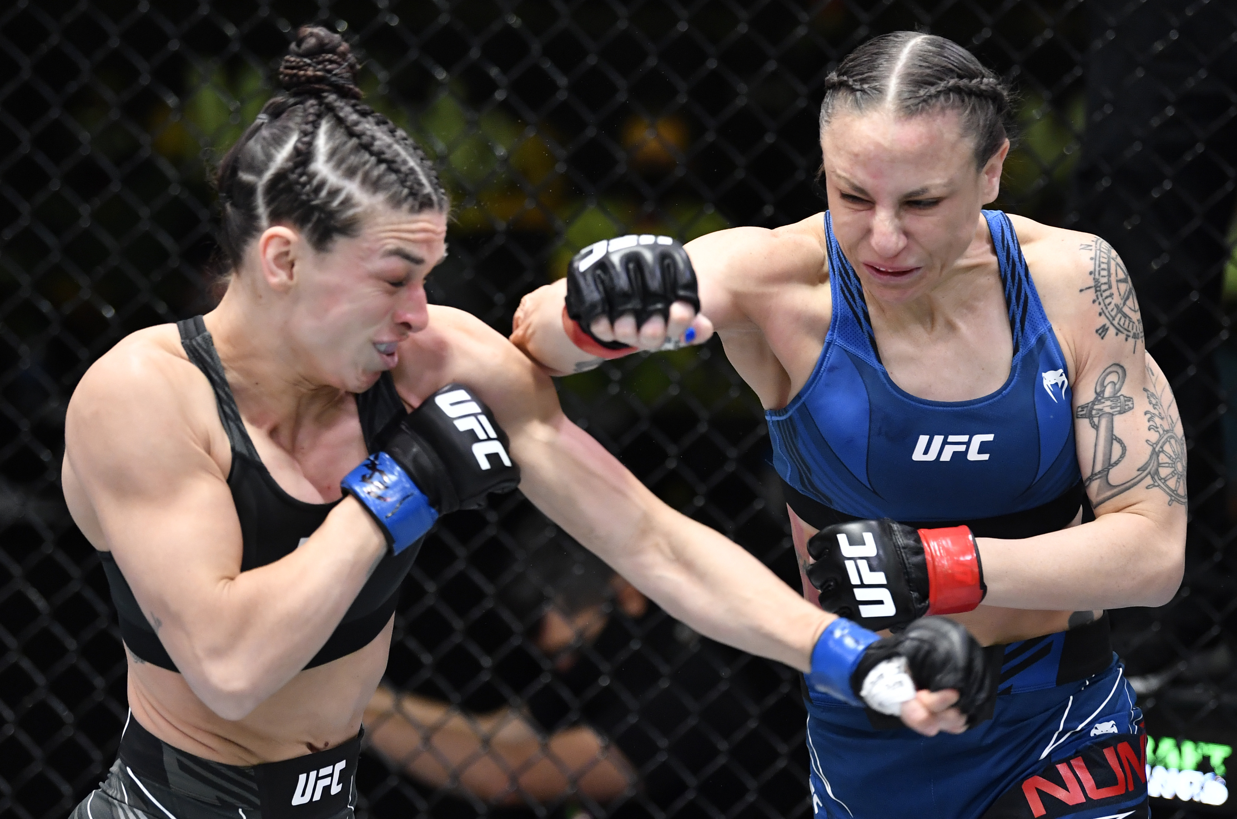 Mackenzie Dern during her UFC Vegas 23 fight against Nina Nunes