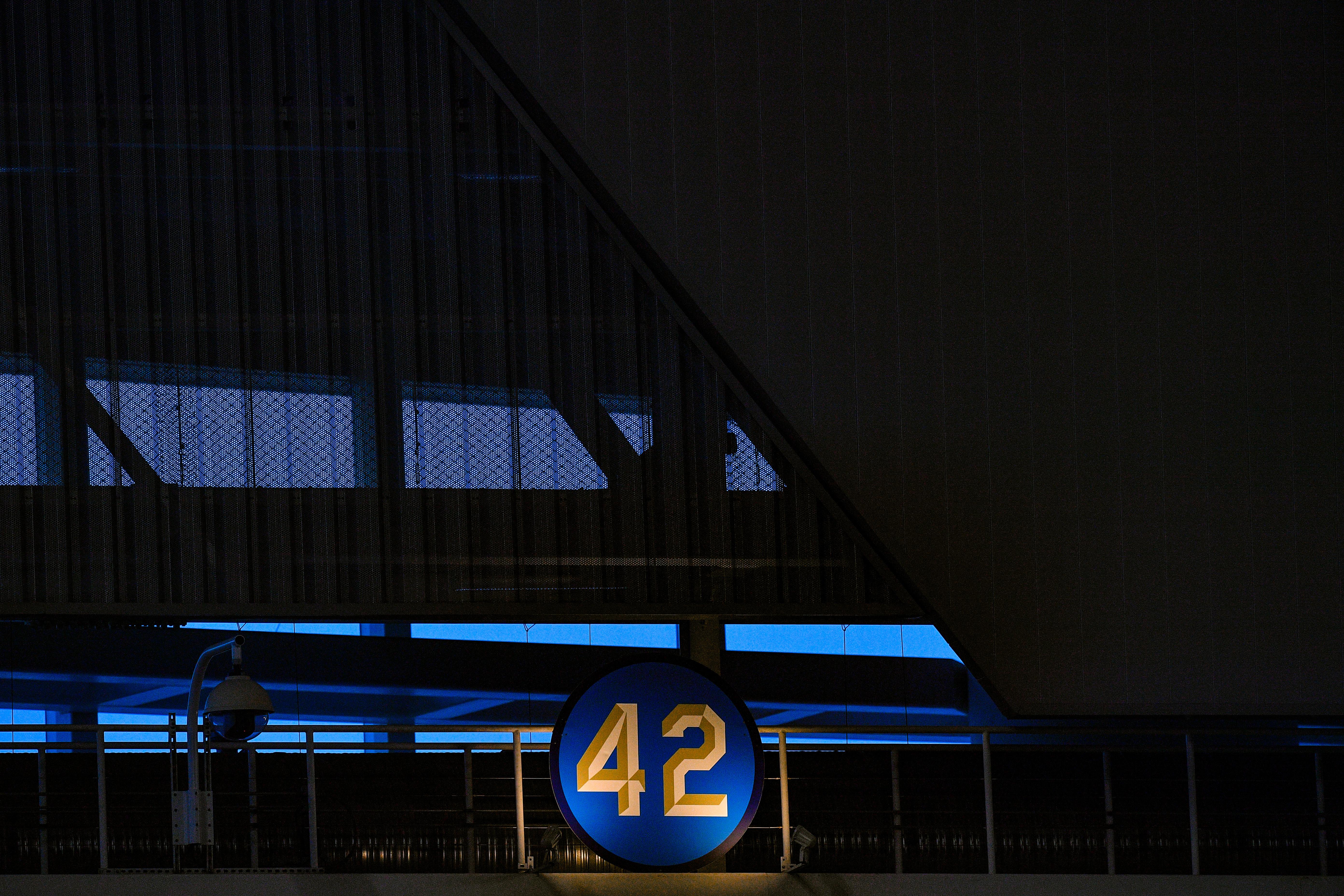 Miami Marlins 42 logo for Jackie Robinson
