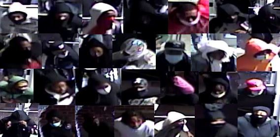 Photos of people wanted in connection with an April 12, 2020 break-in at a Back of the Yards store.