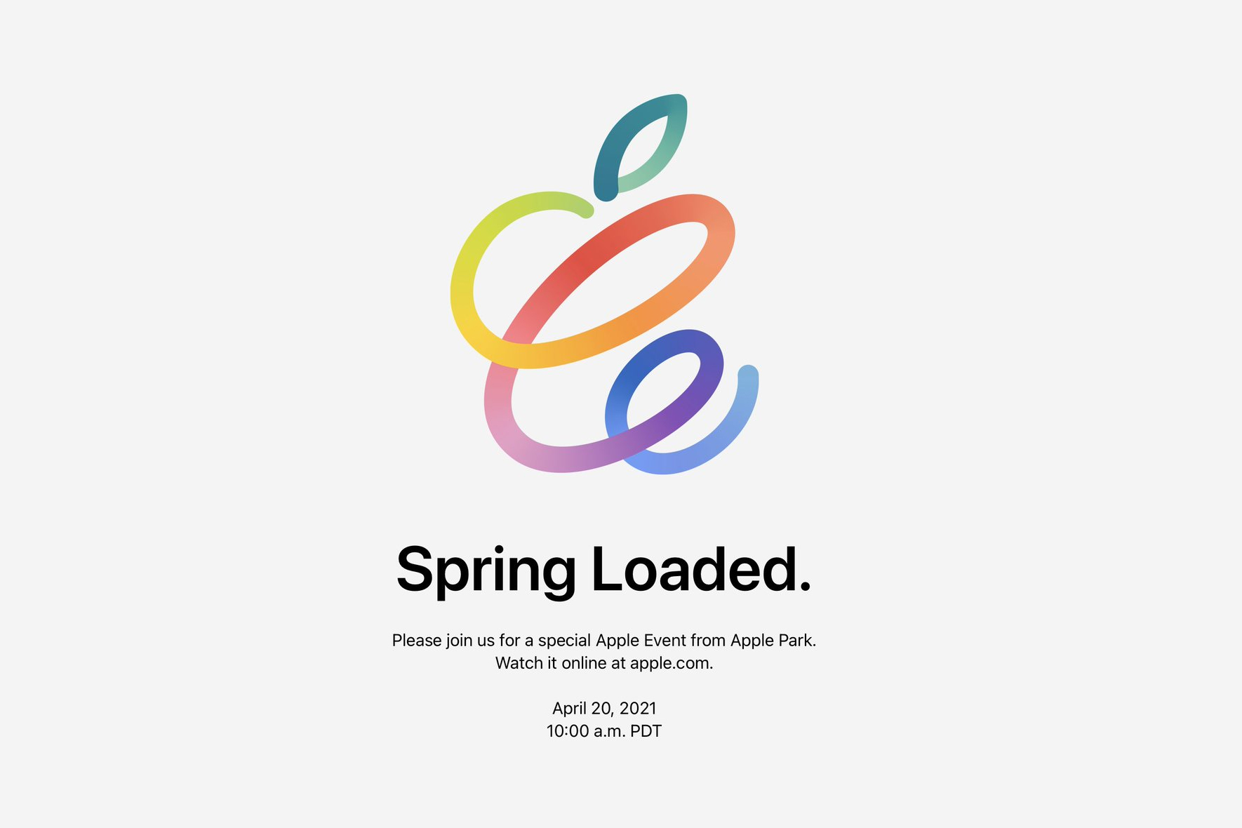 Apple Spring Loaded 2021