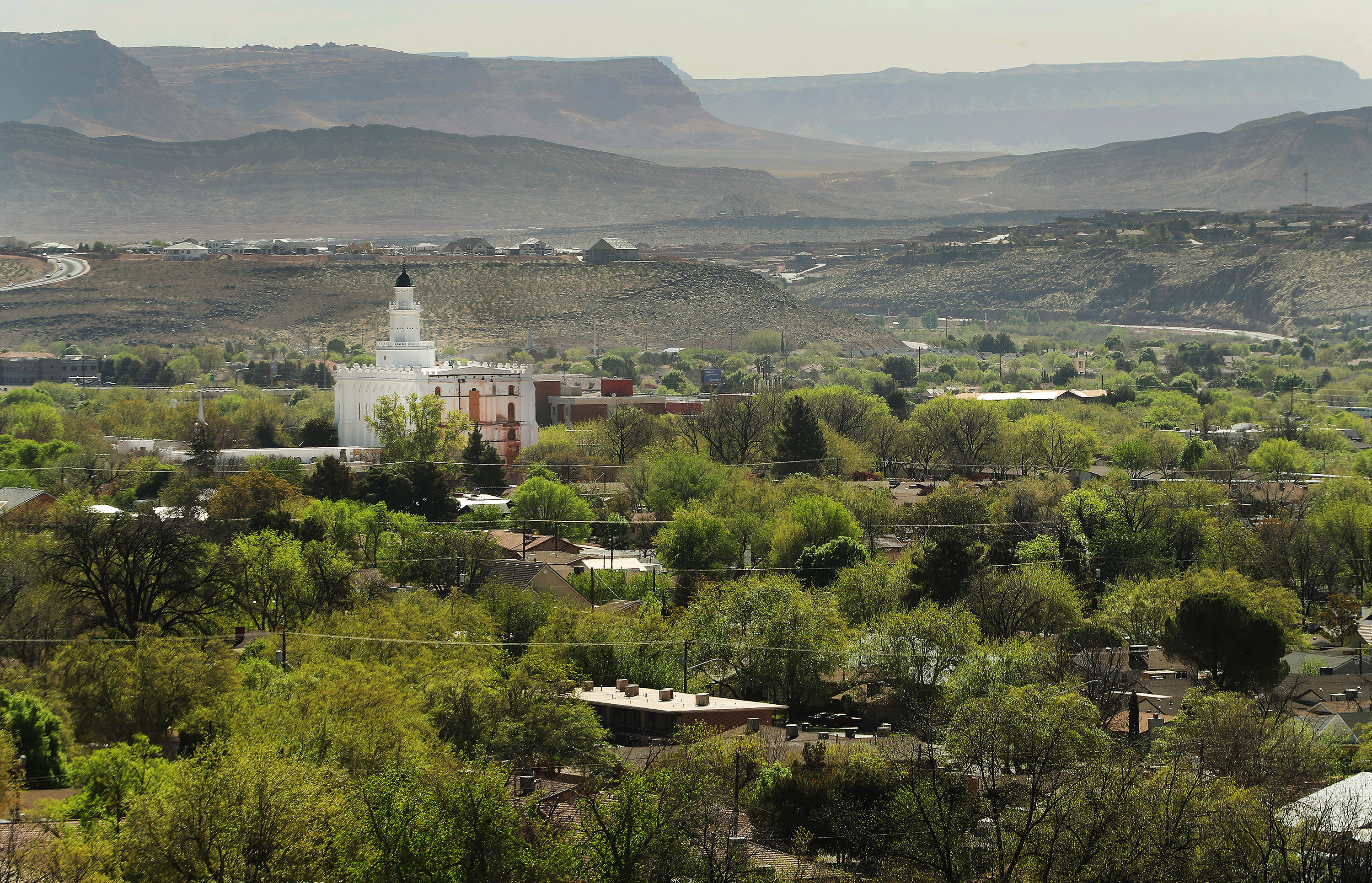 The St. George Utah Temple of The Church of Jesus Christ of Latter-day Saints is under construction in St. George on Thursday, April 8, 2021.