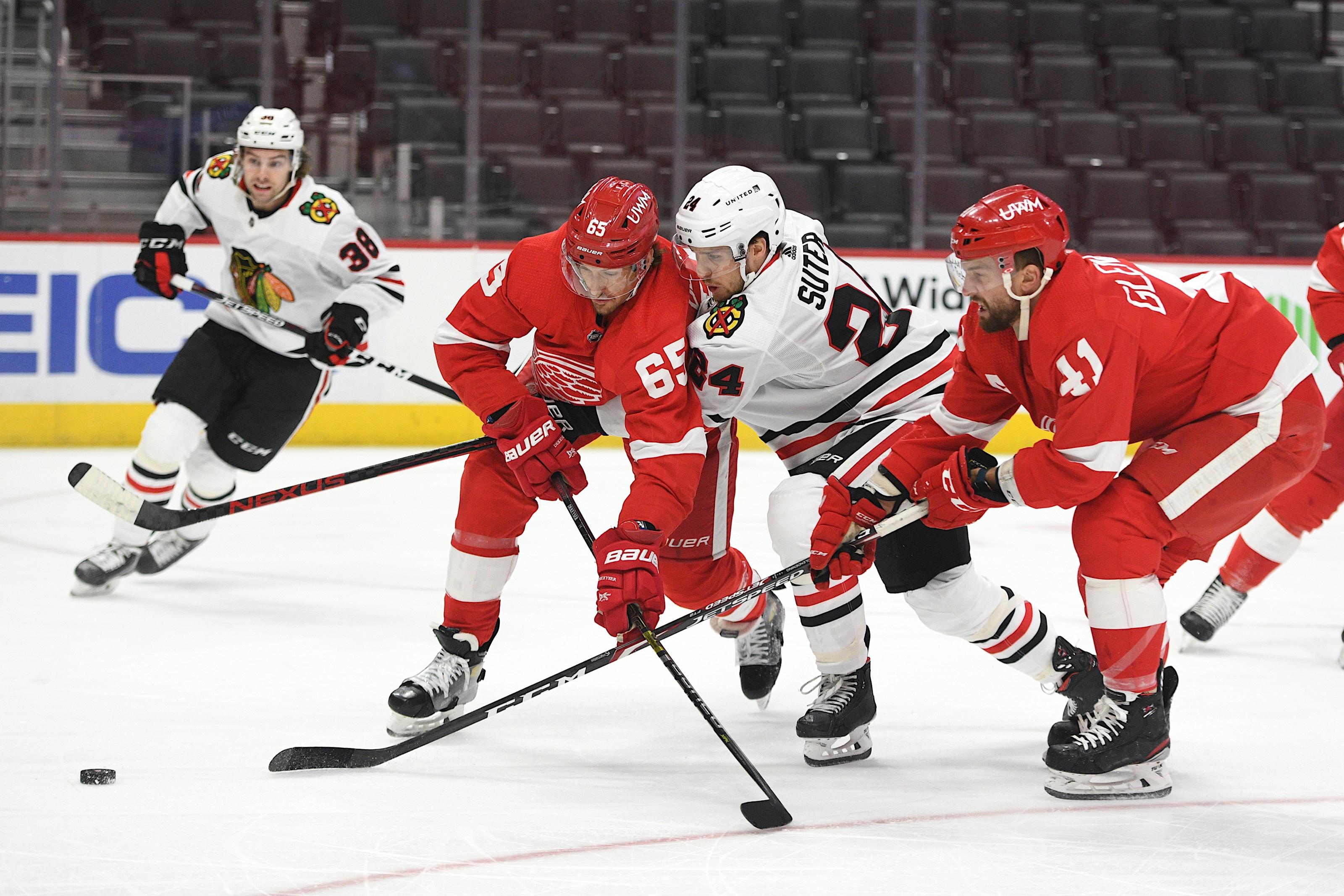 NHL: Chicago Blackhawks at Detroit Red Wings