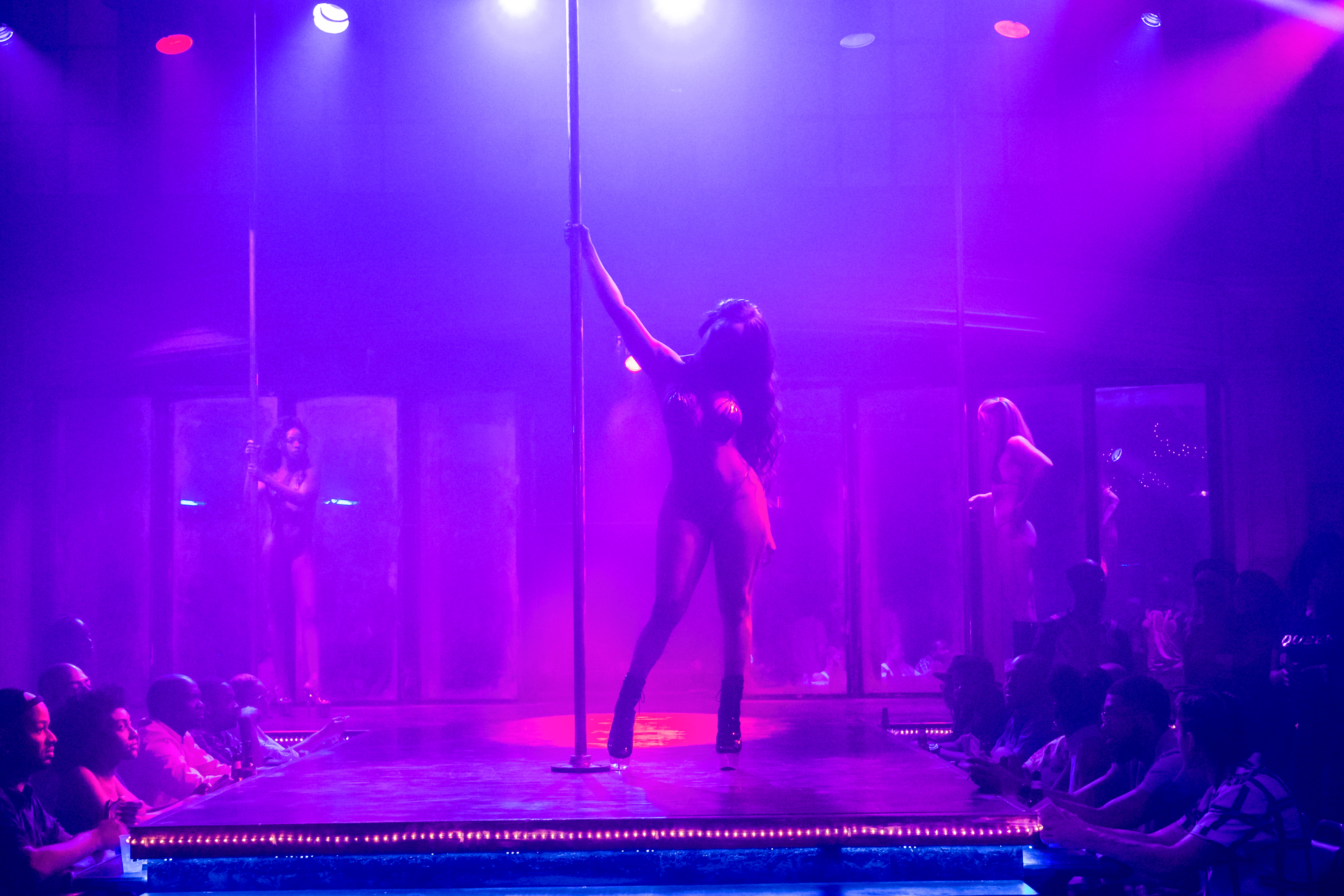 A dancer prepares for a pole dance in the Starz series P-Valley.