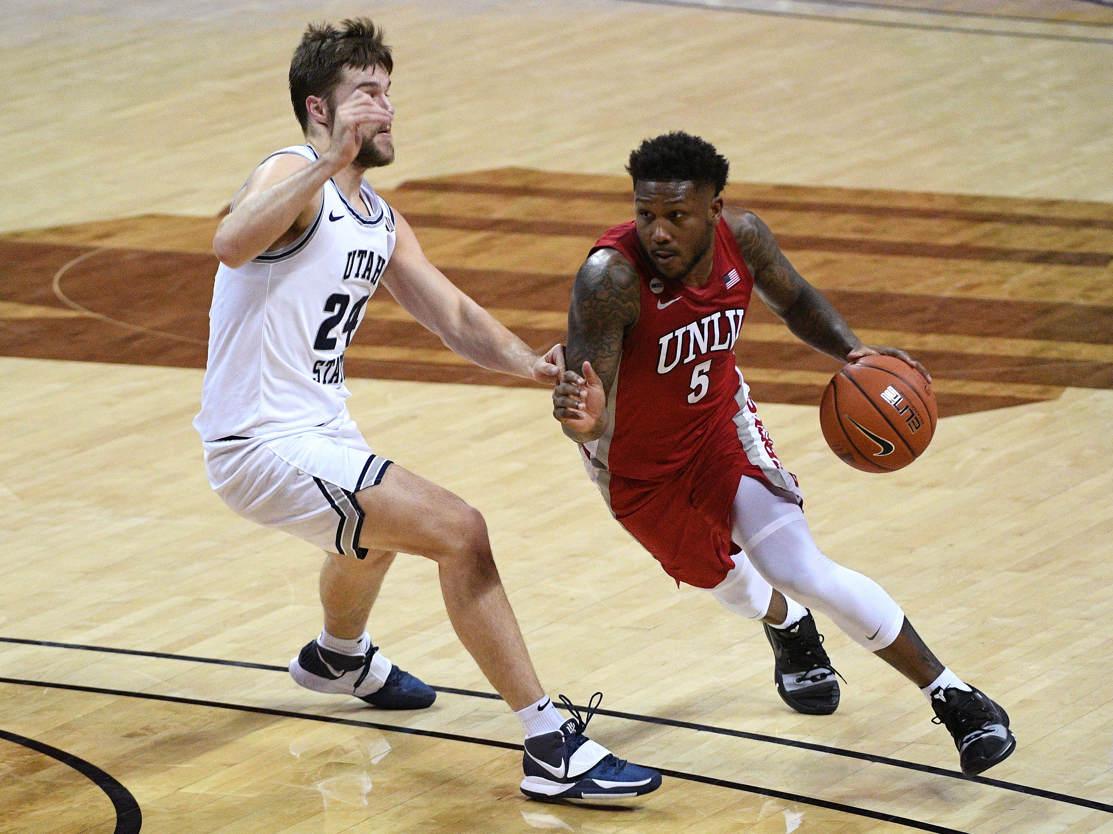 NCAA Basketball: Mountain West Conference Tournament- Utah St vs UNLV