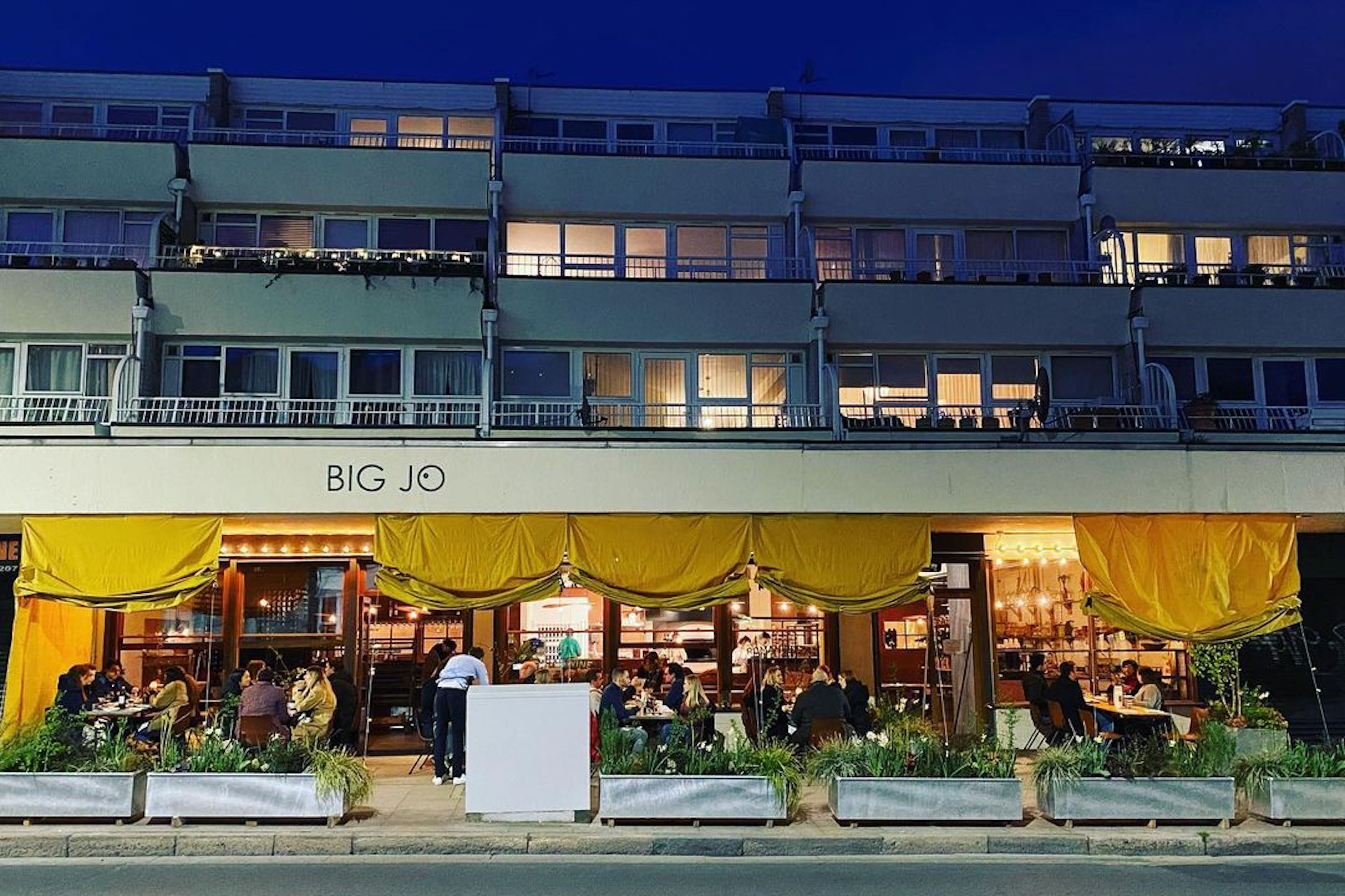 The front of Big Jo restaurant on Hornsey Road in London