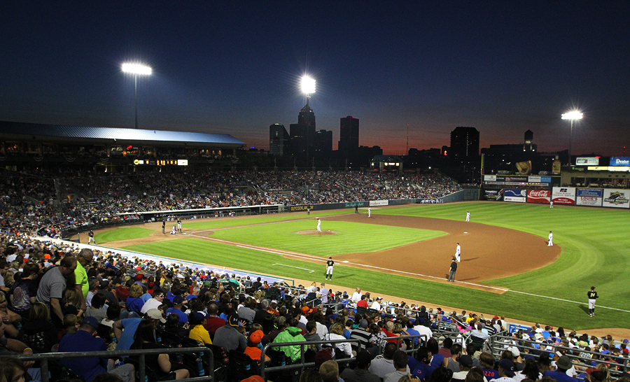 Principal Park in Des Moines, home of the Iowa Cubs