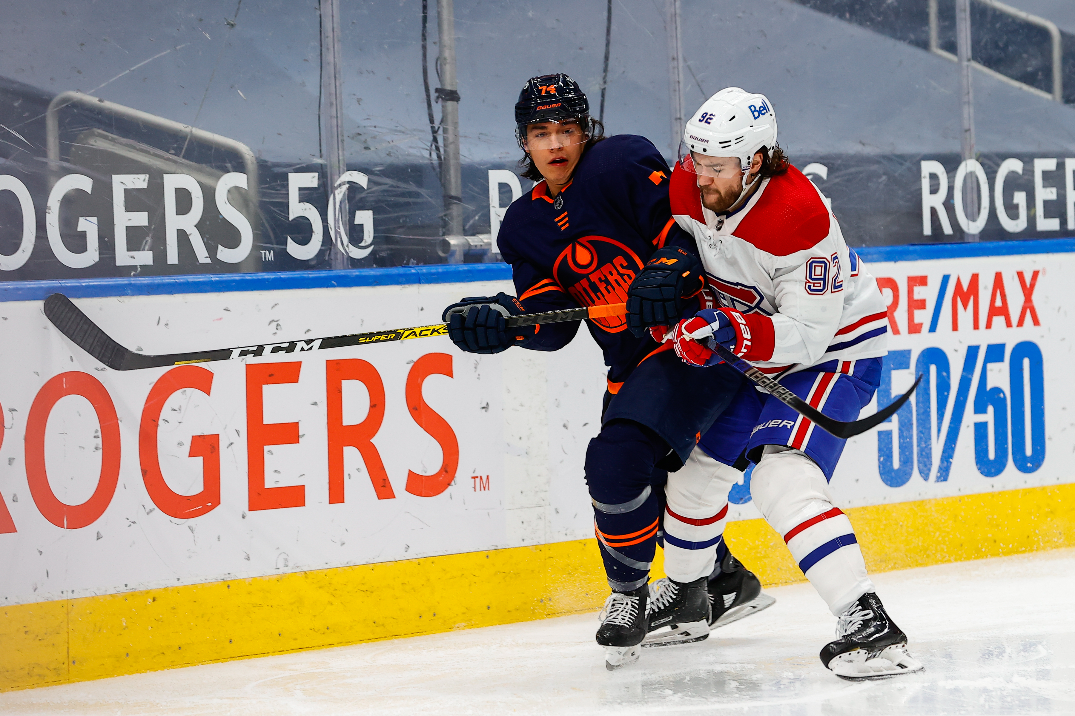 NHL: APR 19 Canadiens at Oilers