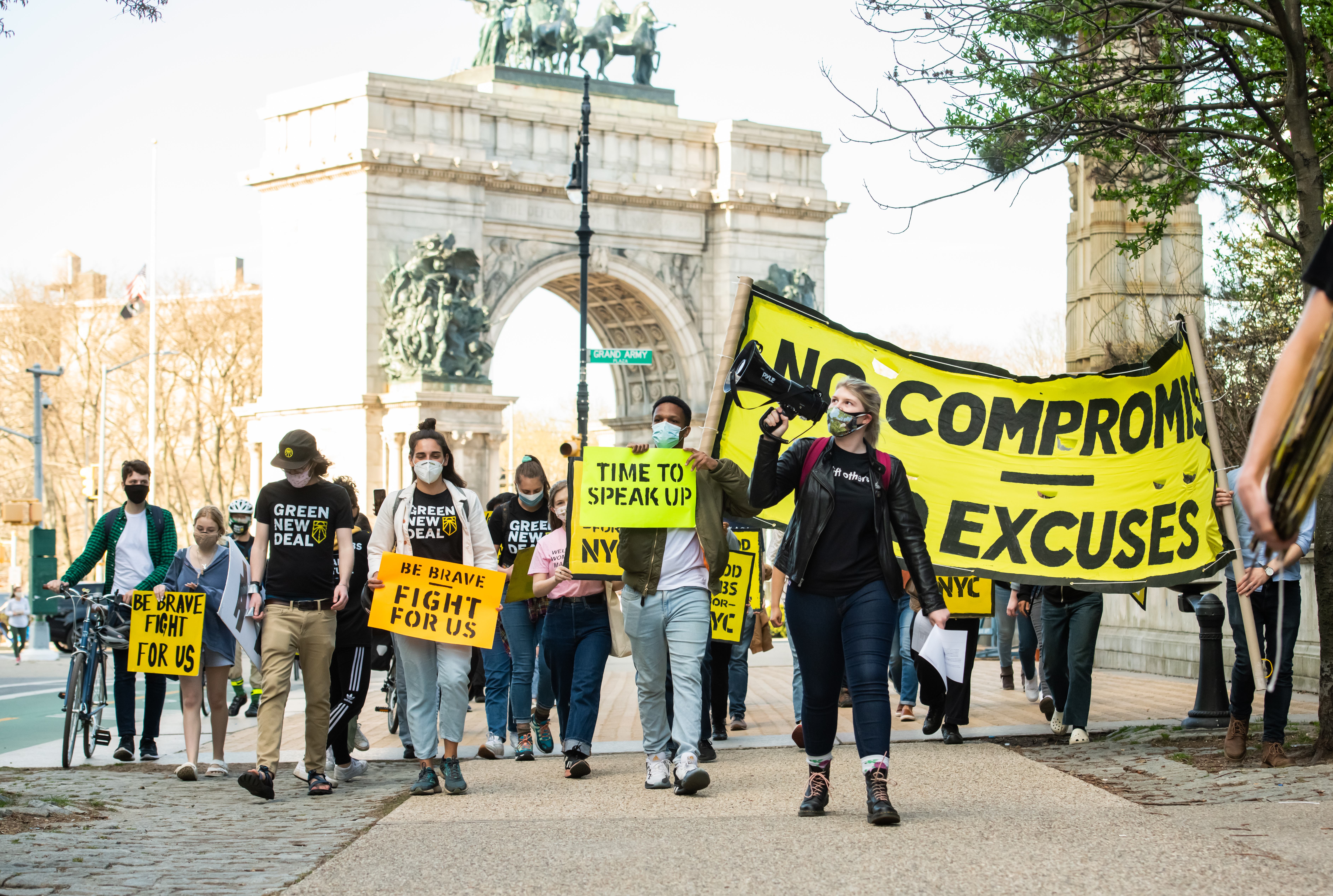 New Yorkers With The Sunrise Movement Take Action In Brooklyn For An Economic Recovery And Infrastructure Package Prioritizing Climate, Care, Jobs, And Justice, Calling On Congress To Pass The THRIVE Act