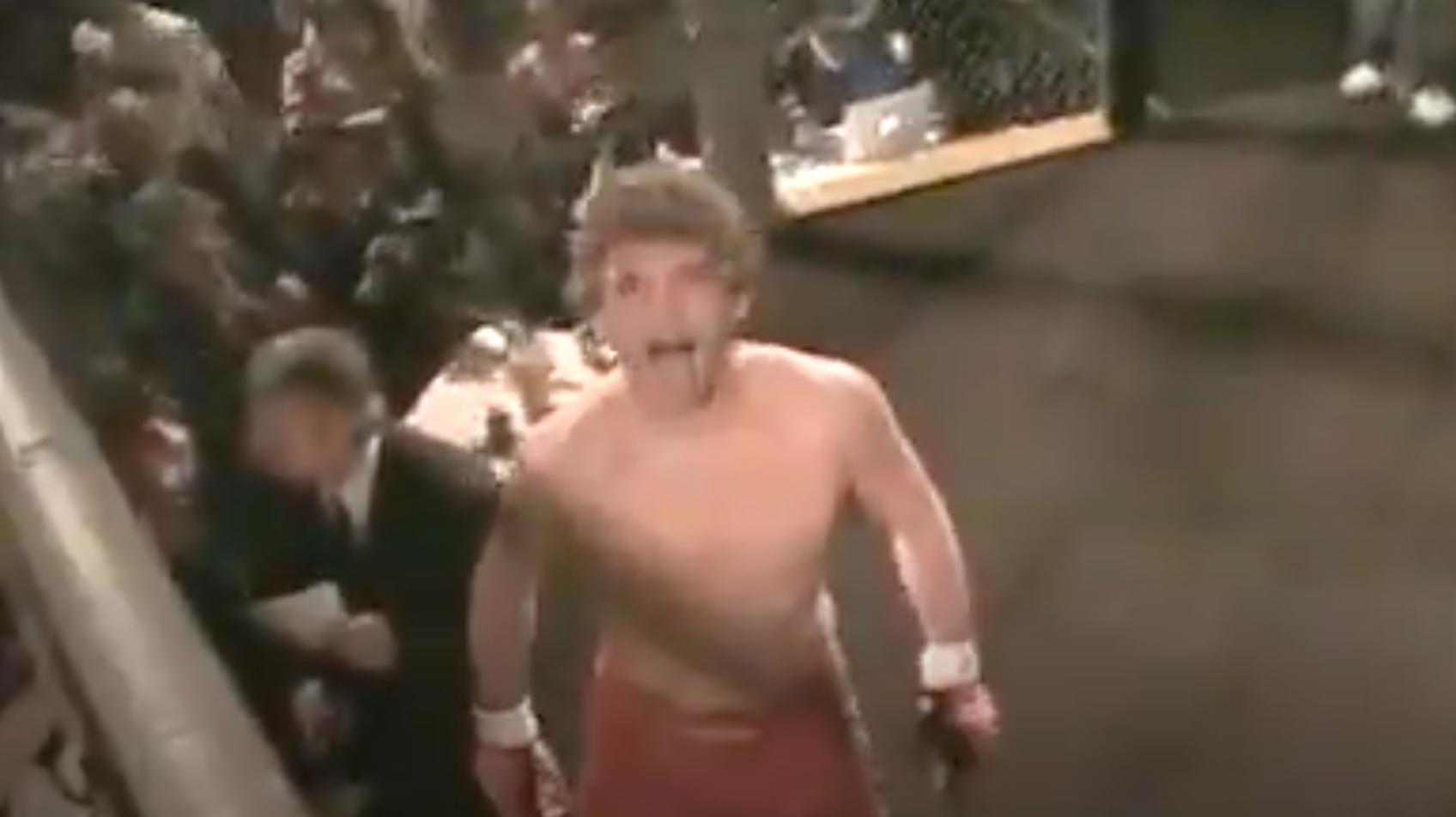 Ben Askren during his 2009 MMA debut against Josh Flowers.