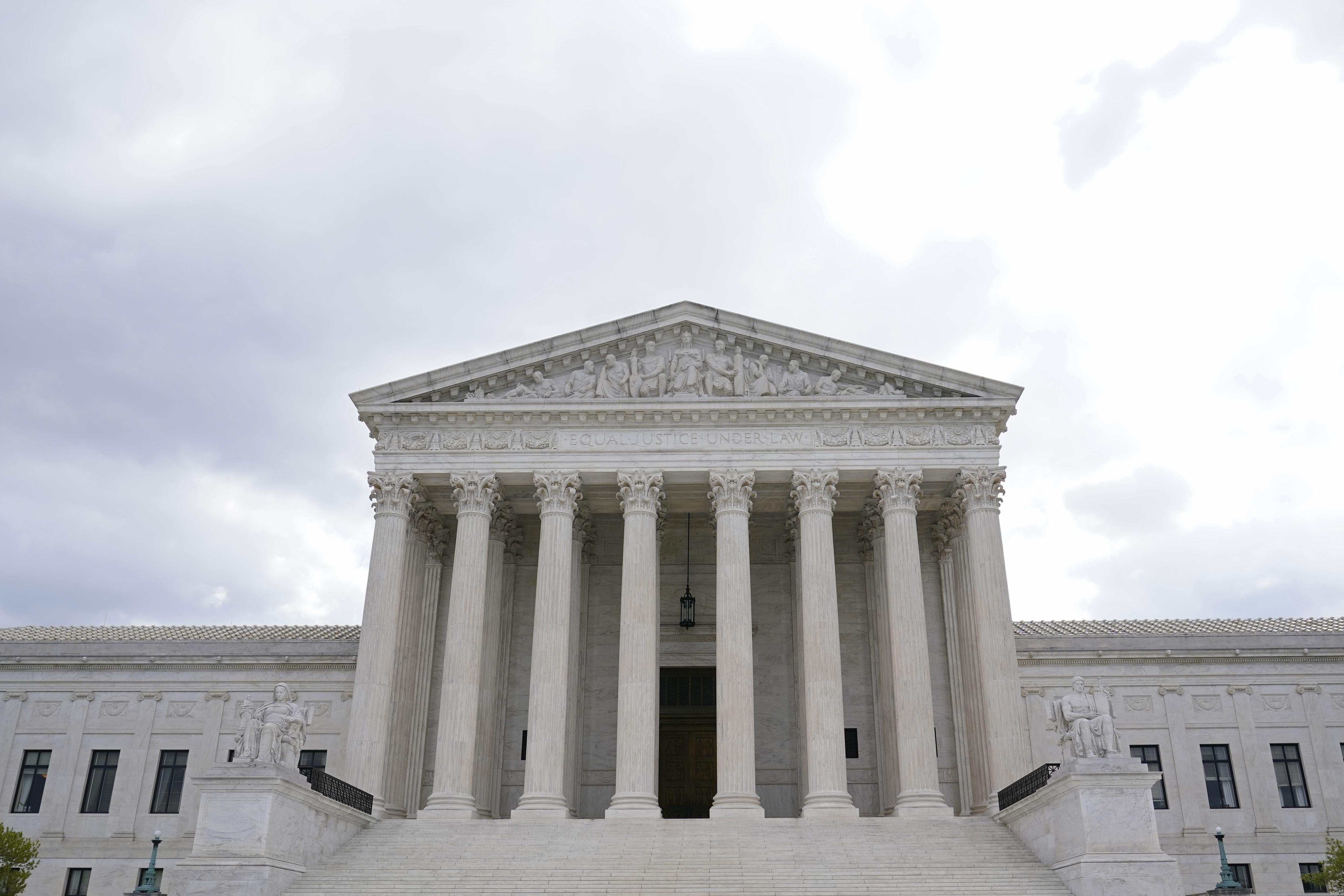 A photo of the exterior of the U.S. Supreme Court building in Washington.