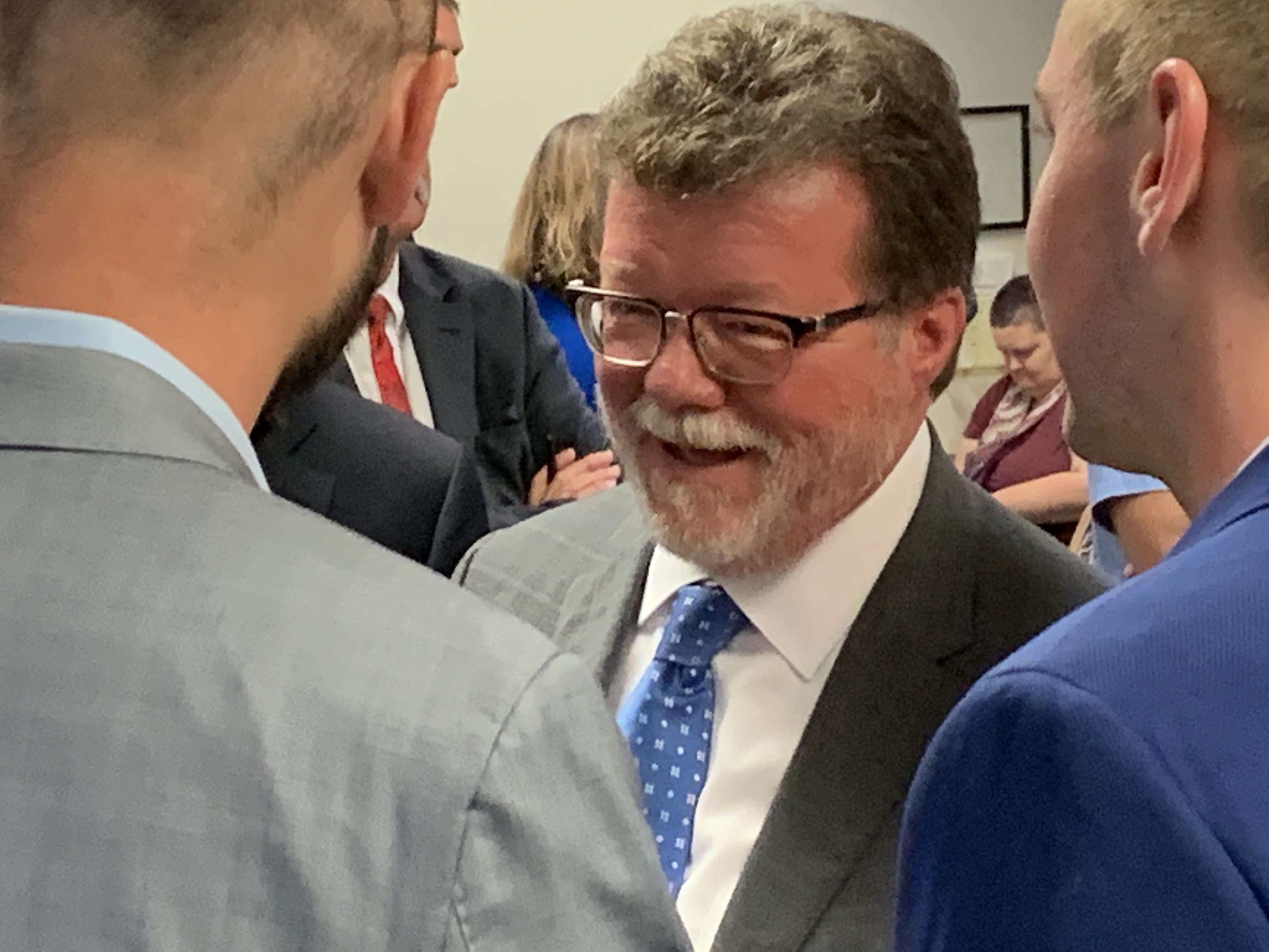 Rick Heidner, pictured at a 2019 Illinois Racing Board meeting. State regulators have settled a disciplinary complaint against Heidner's video gambling company.
