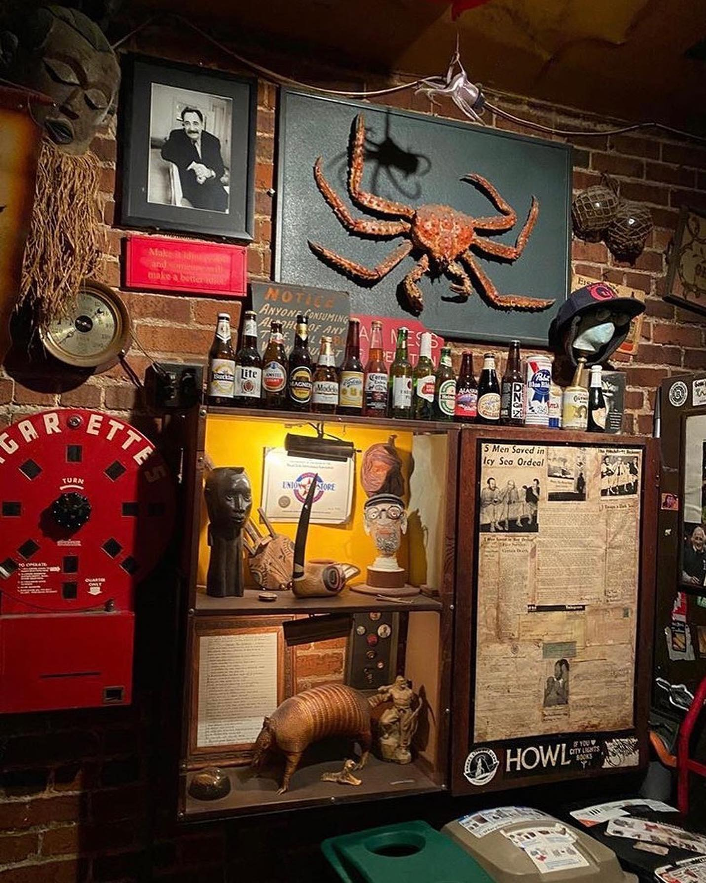 Oddities at Specs' Bar