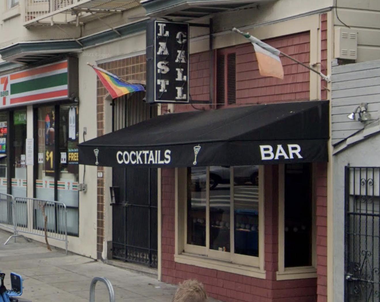 Exterior of Last Call bar in the Castro