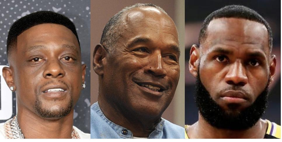 Boosie, O.J. Simpson, LeBron James