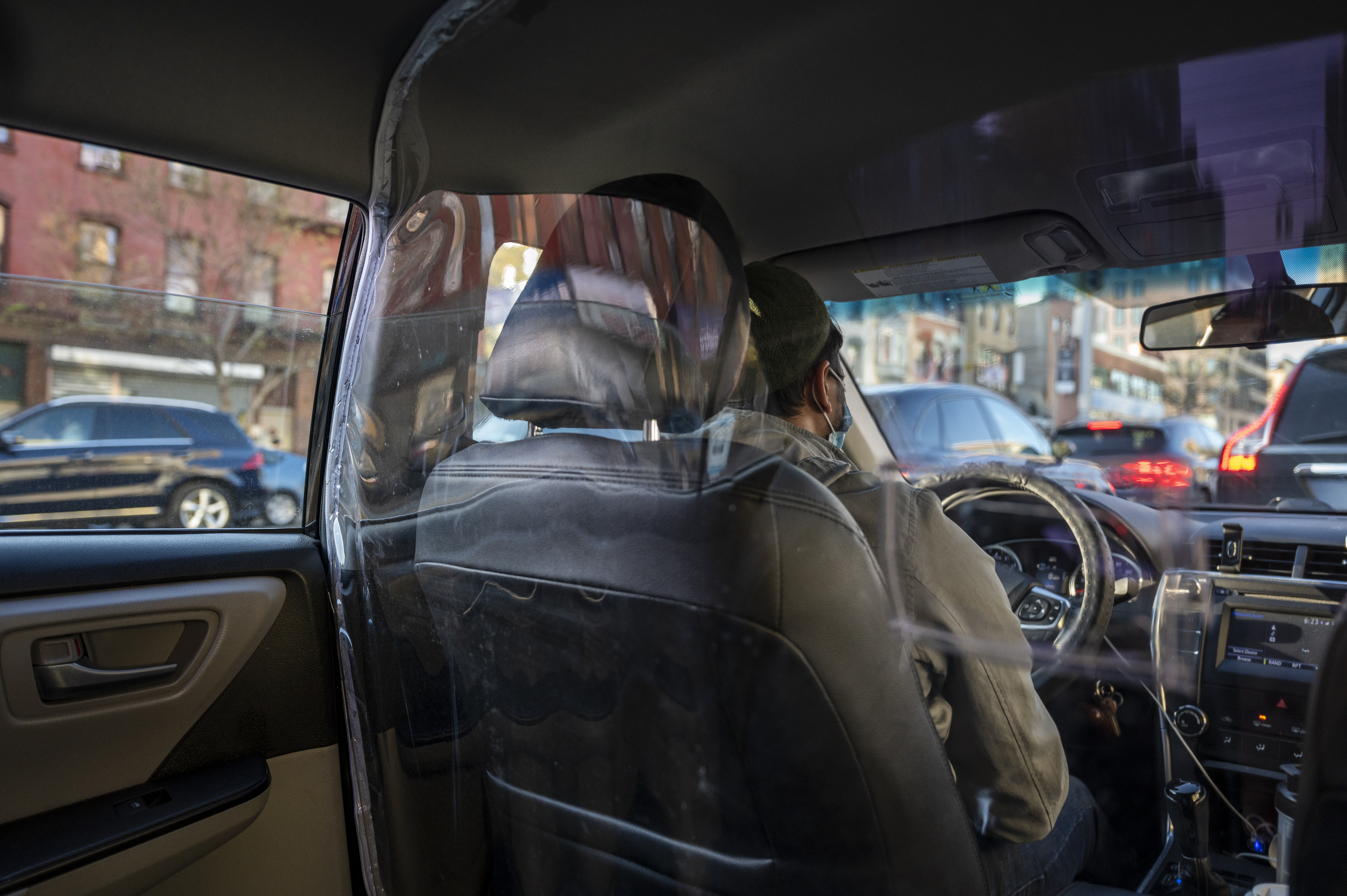 A ride-share in Brooklyn, April 23, 2020.