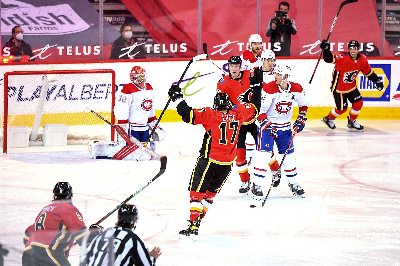 NHL: APR 24 Canadiens at Flames