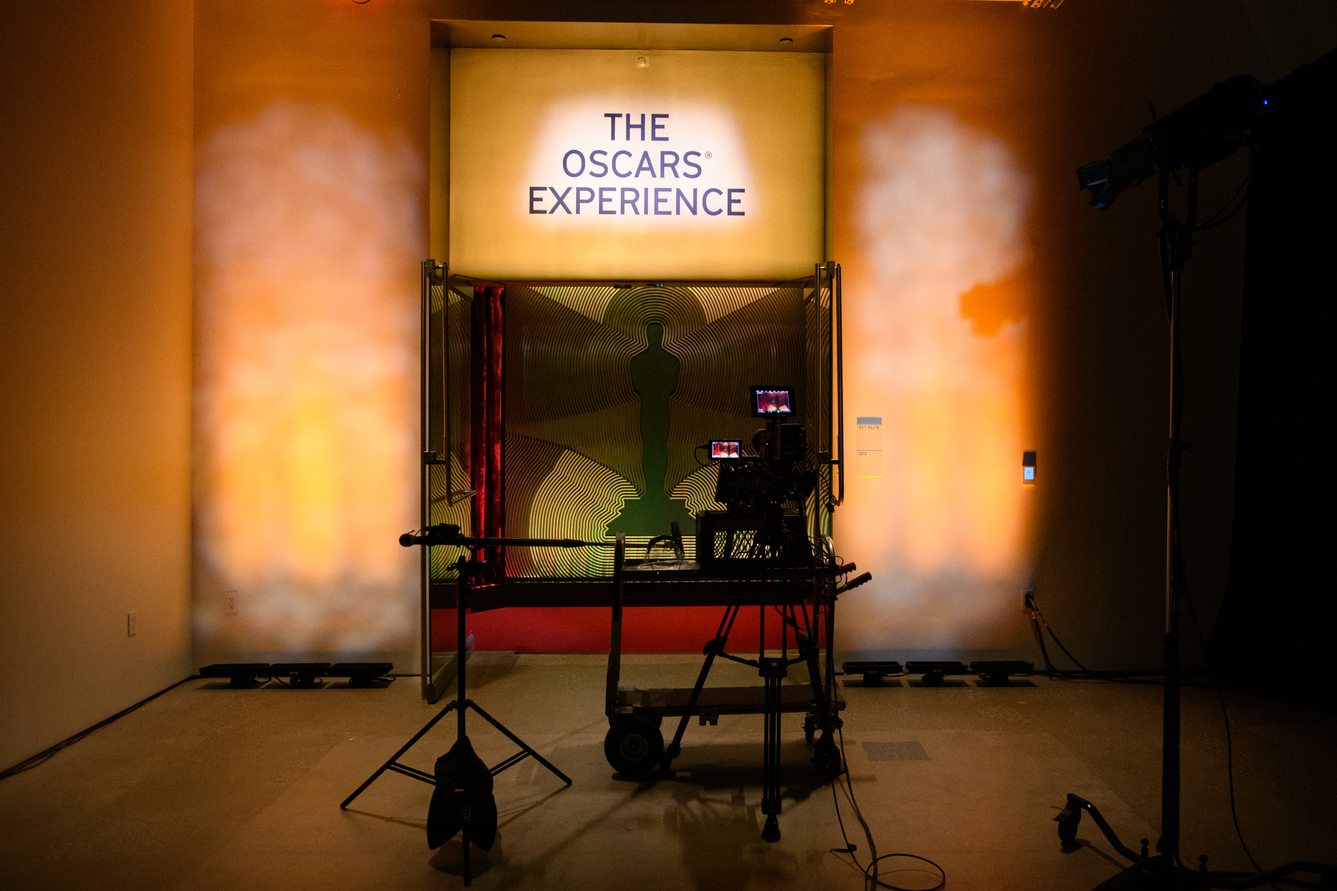 this handout image provided by A.M.P.A.S. the stage is set for the 93rd Academy Awards Nominations Announcement on March 15, 2021.