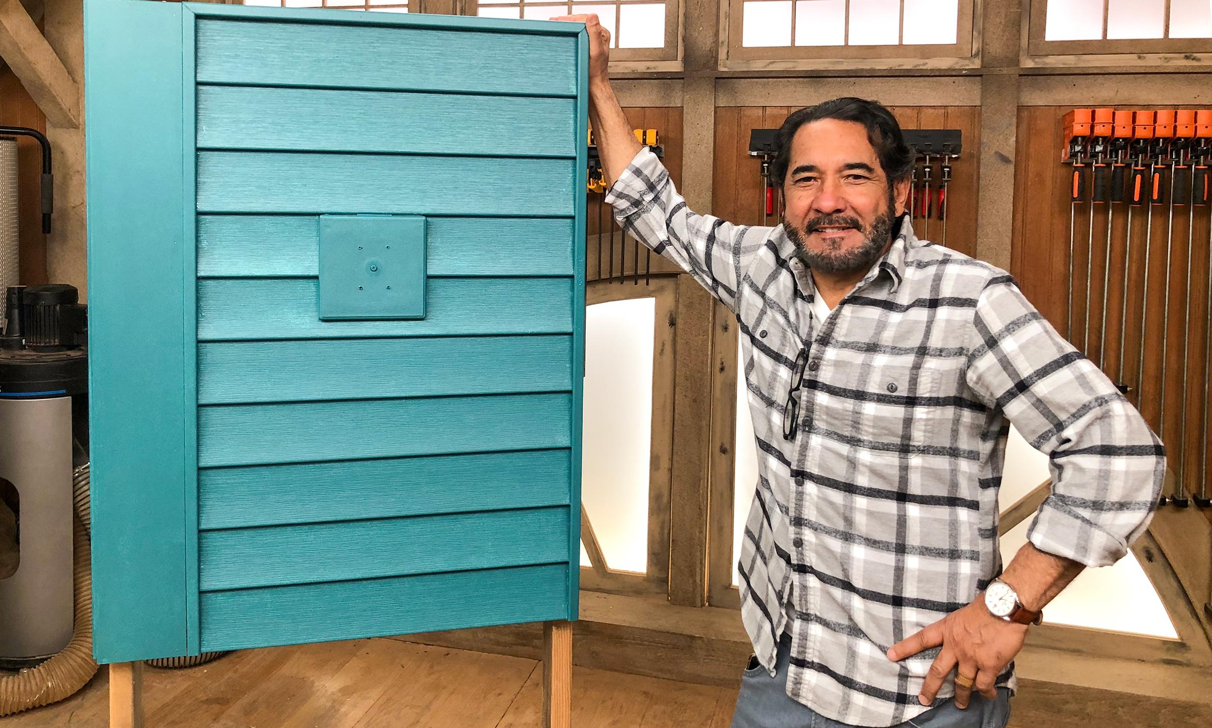 Mauro paints vinyl siding