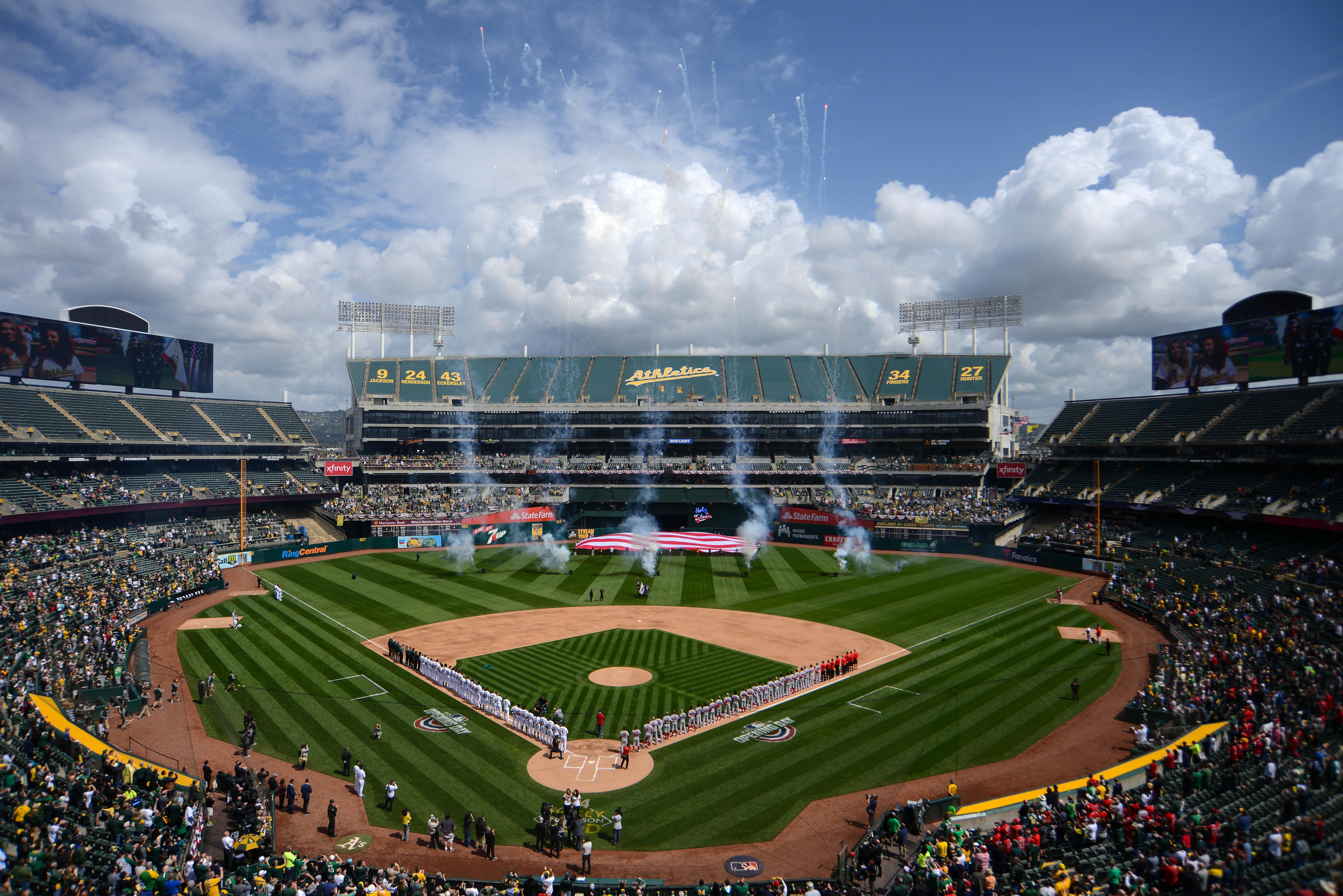 MLB: MAR 28 Angels at Athletics