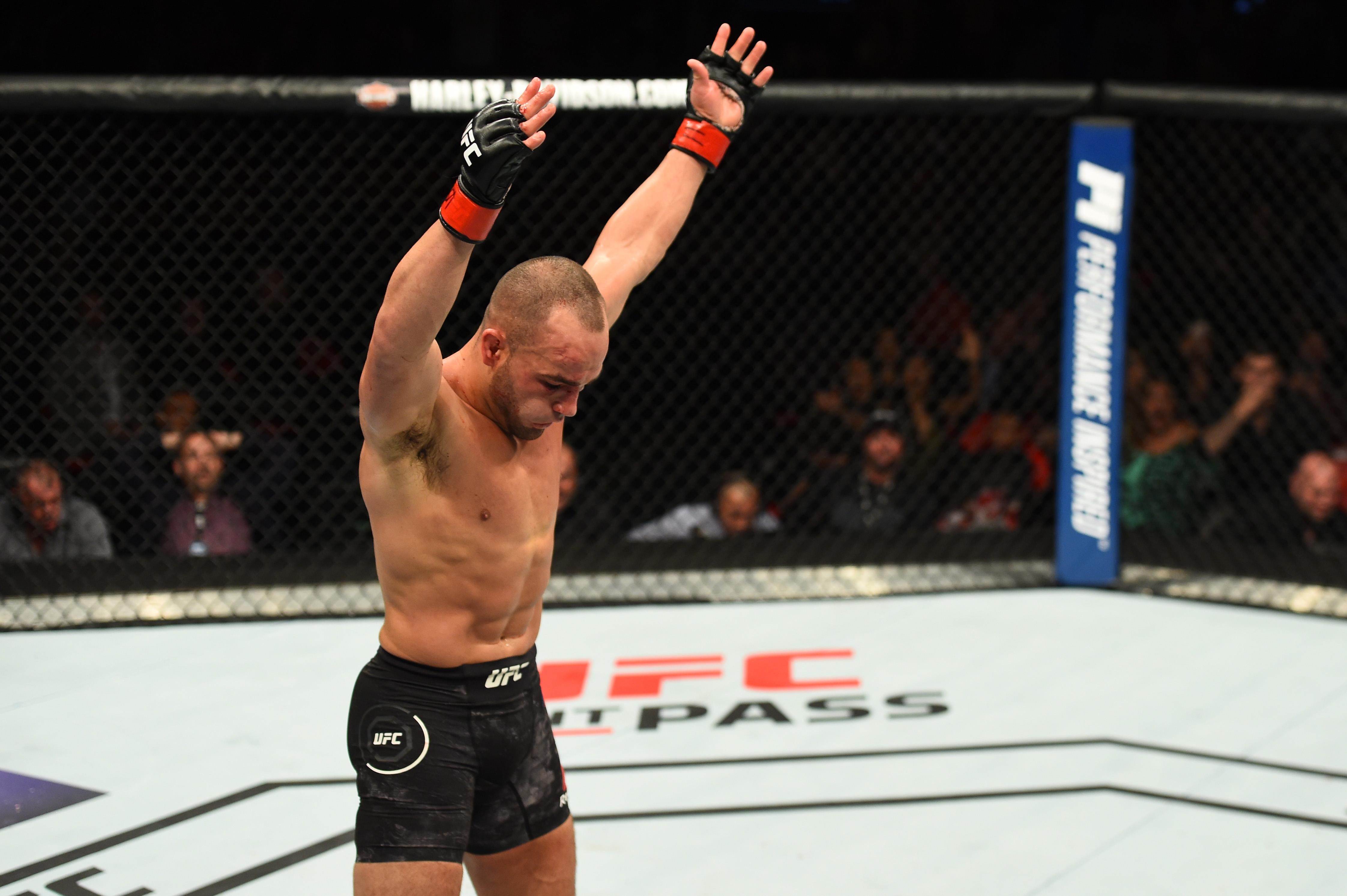 Eddie Alvarez after his fight at UFC 218.