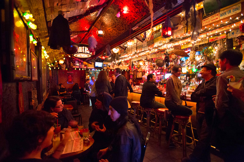 The bar at Tiki Ti in Los Feliz.