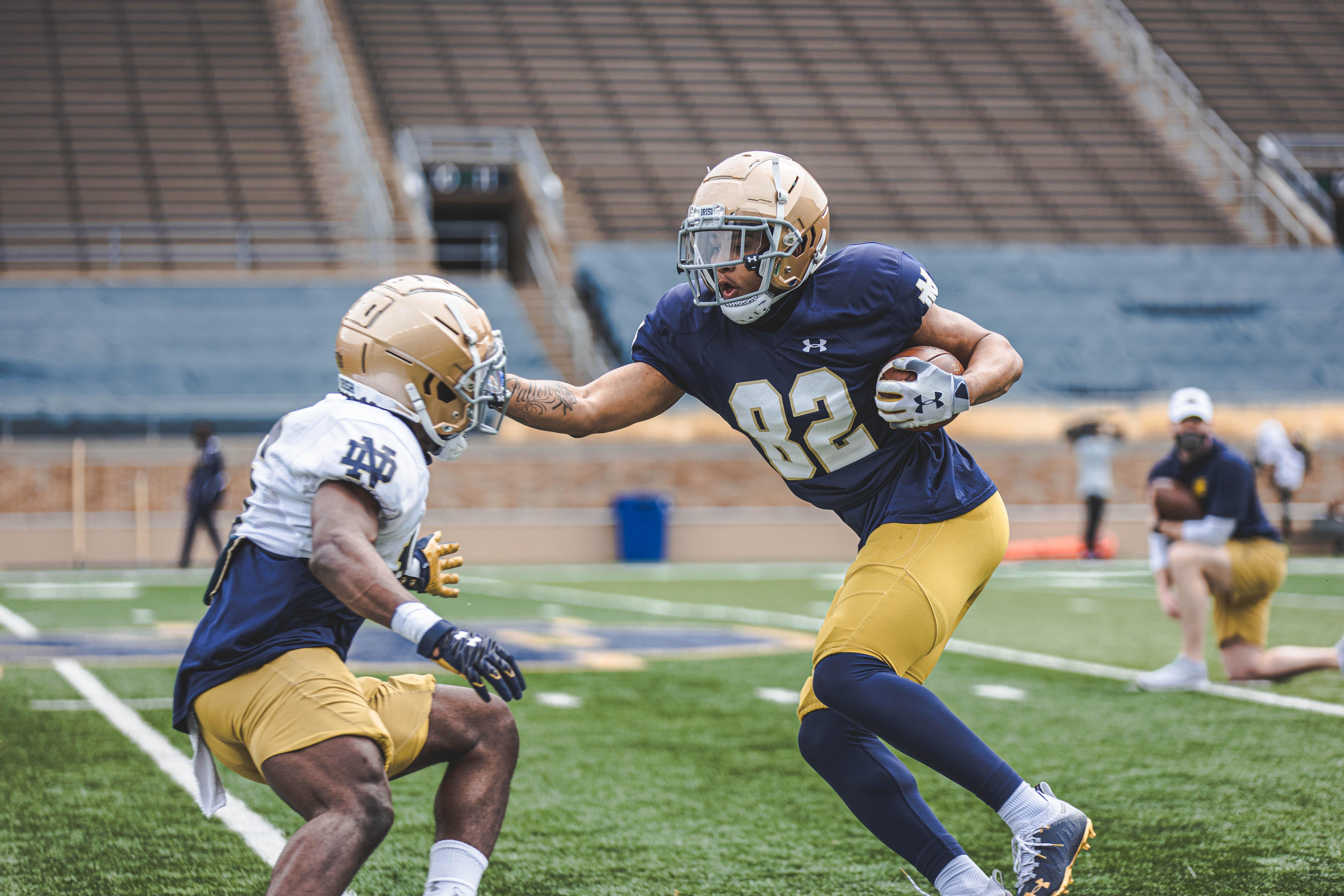 Xavier Watts Notre Dame Athletics