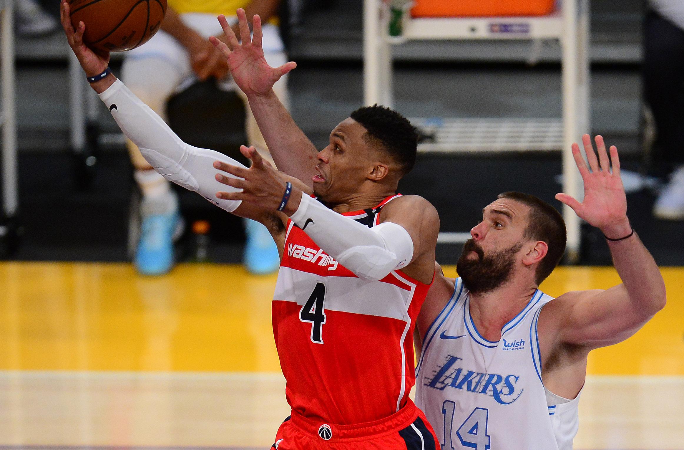 NBA: Washington Wizards at Los Angeles Lakers