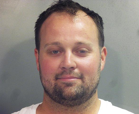 Josh Duggar is seen in a jail mugshot taken after his arrest Thursday.