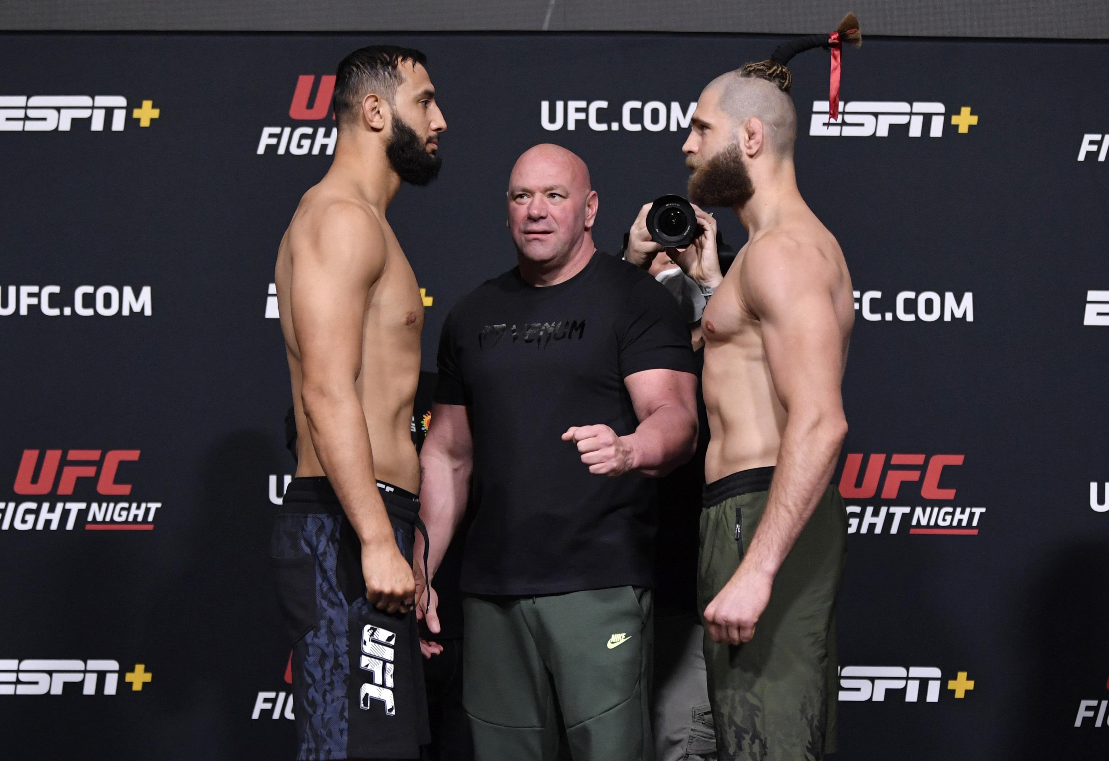 UFC打击夜:Reyes V Prochazka称重