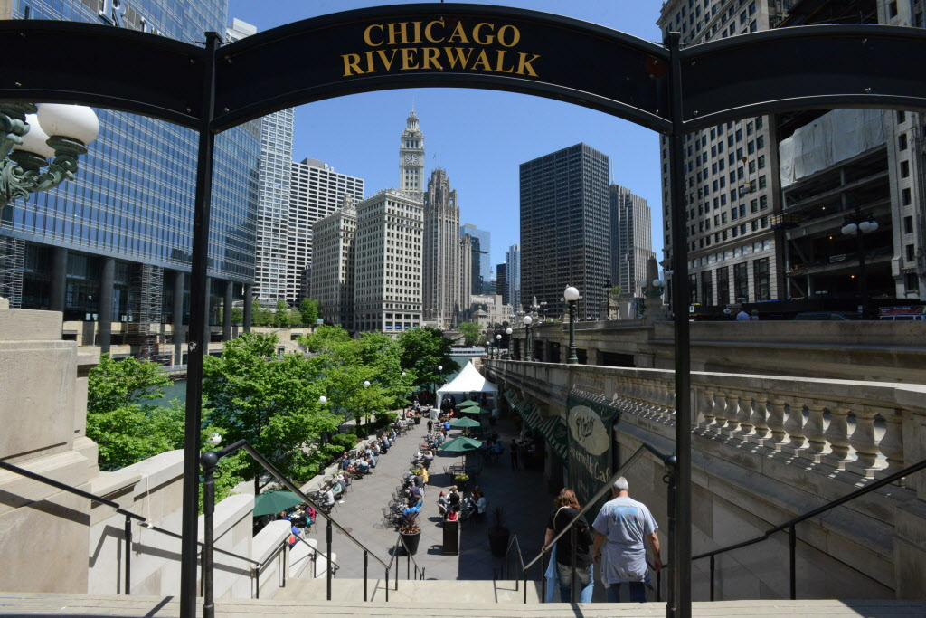 Two new sections of the downtown Riverwalk opened Saturday, May 23, 2015.