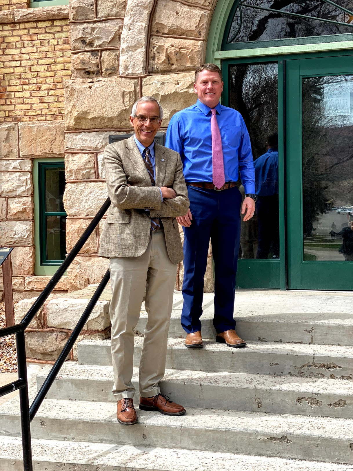Southern Utah University President Scott Wyatt, left, and Provost Jon Anderson are architects of a no-frills, all-inclusive $9,000 bachelor's degree.