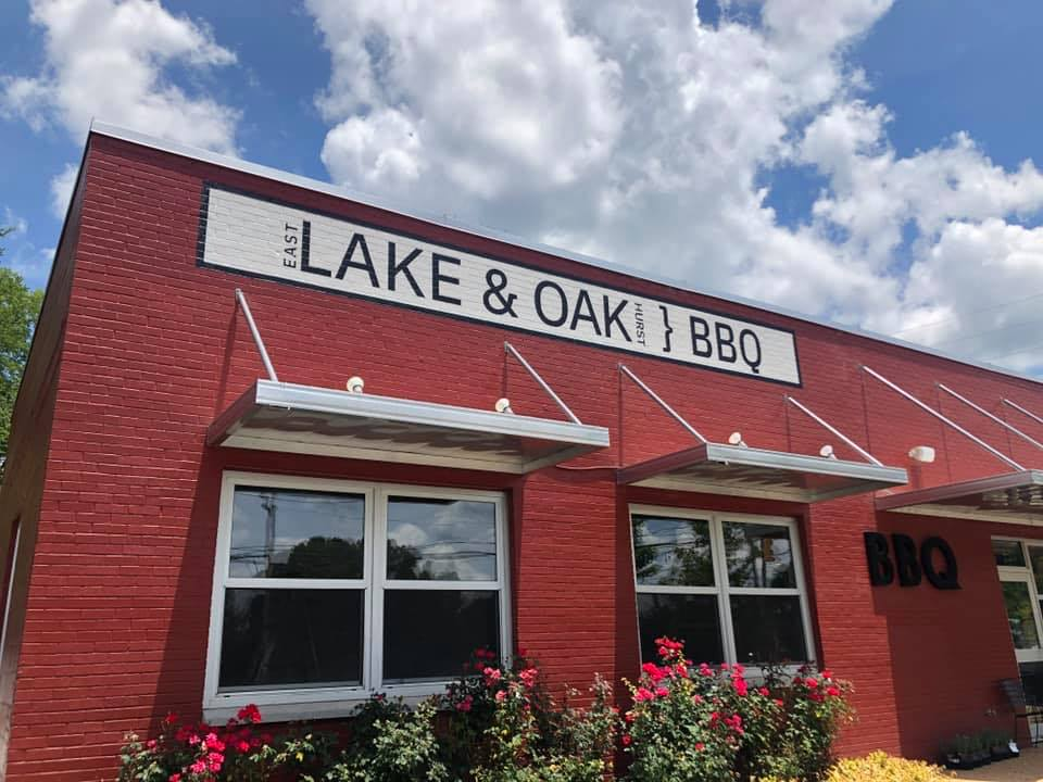 The outside of the East Lake, Atlanta, barbecue restaurant owned by chefs Todd Richards and Joshua Lee