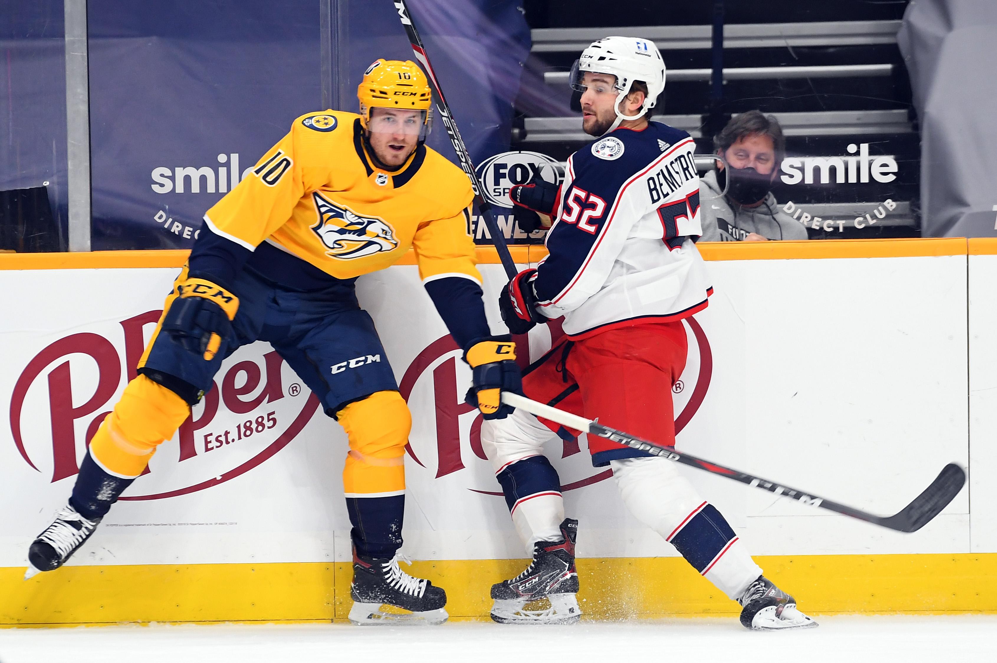 NHL: Columbus Blue Jackets at Nashville Predators