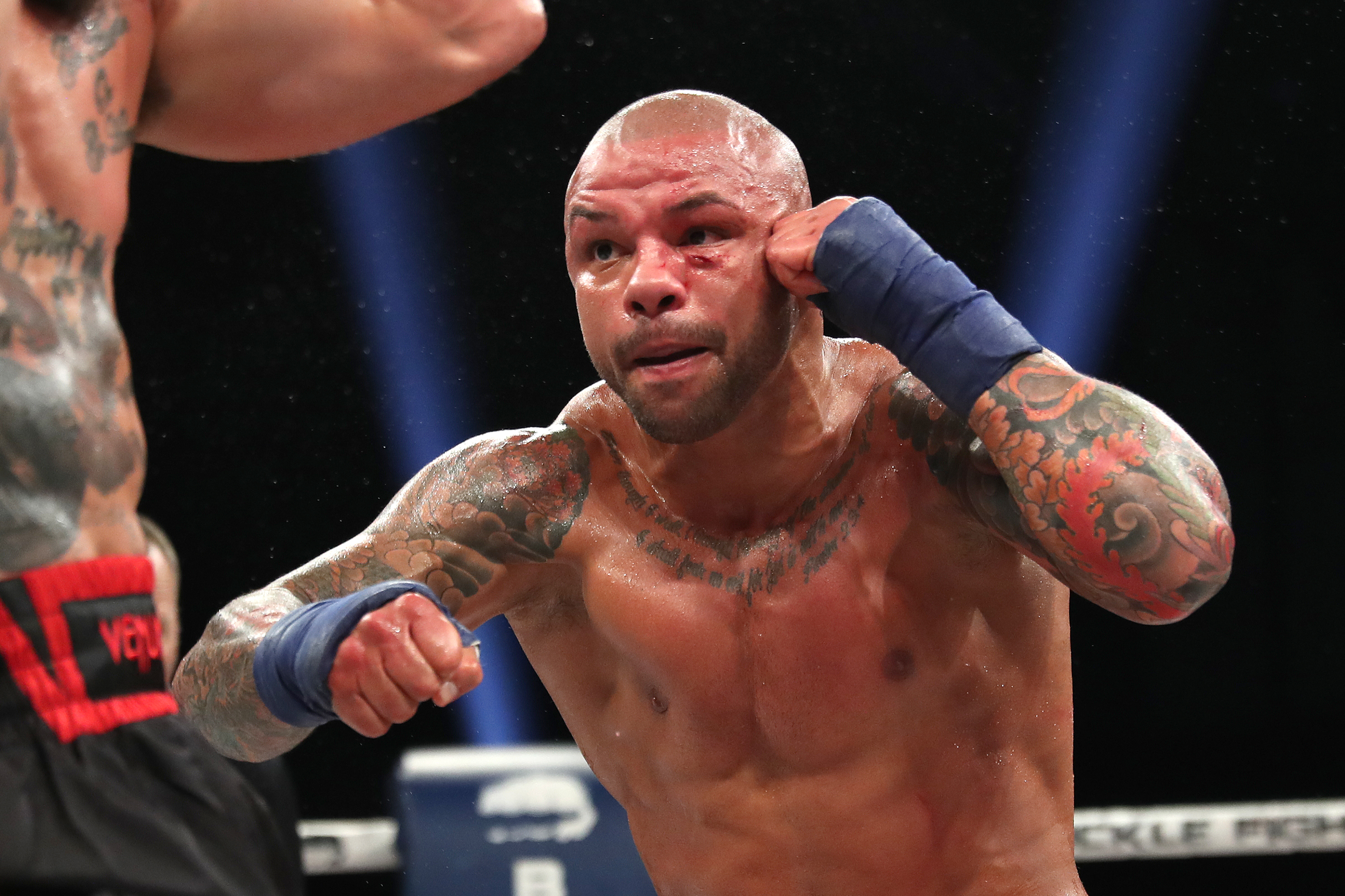 Thiago Alves whilst fighting Julian Lane at a BKFC event in September 2020