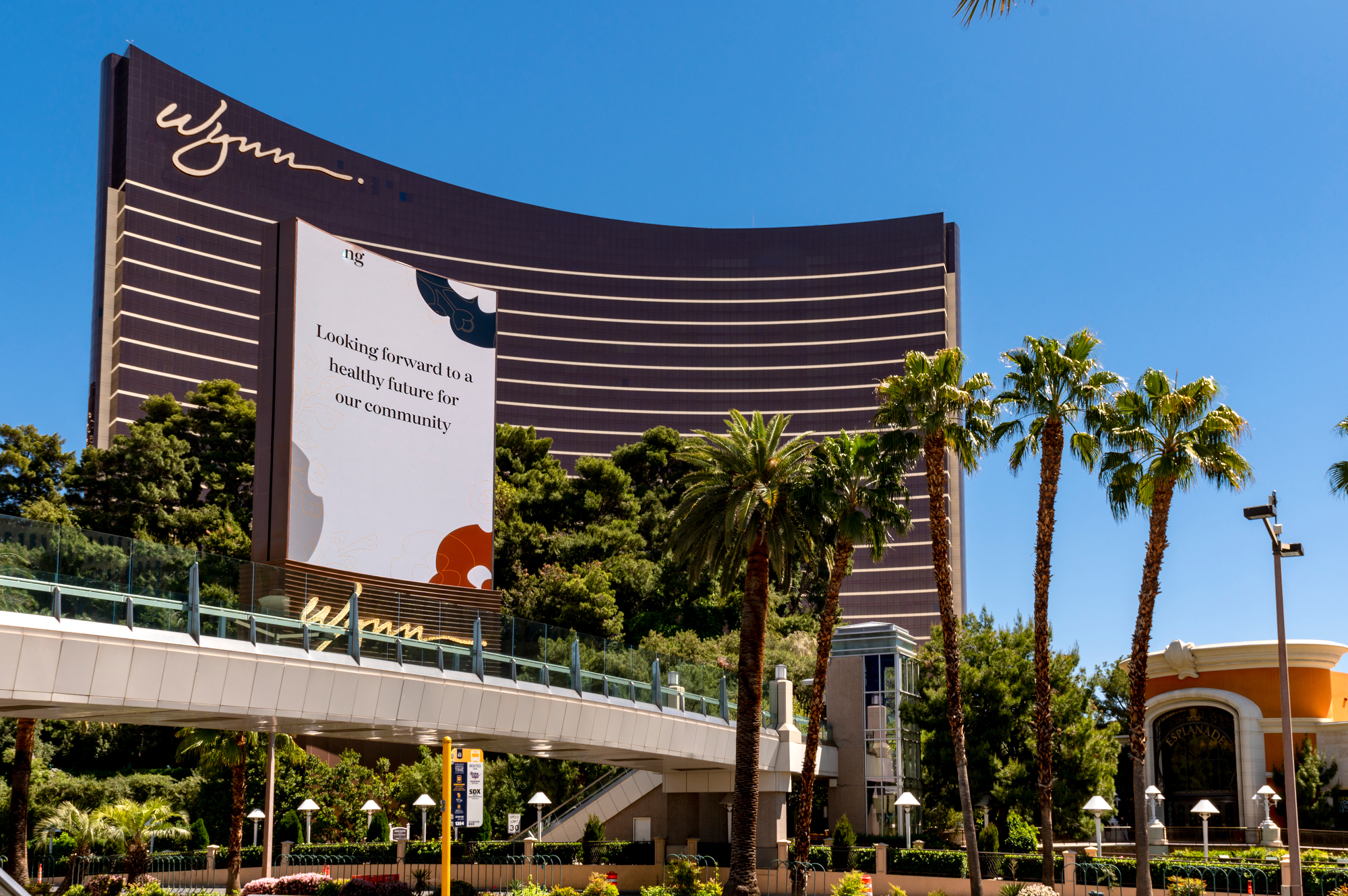 The exterior of a casino