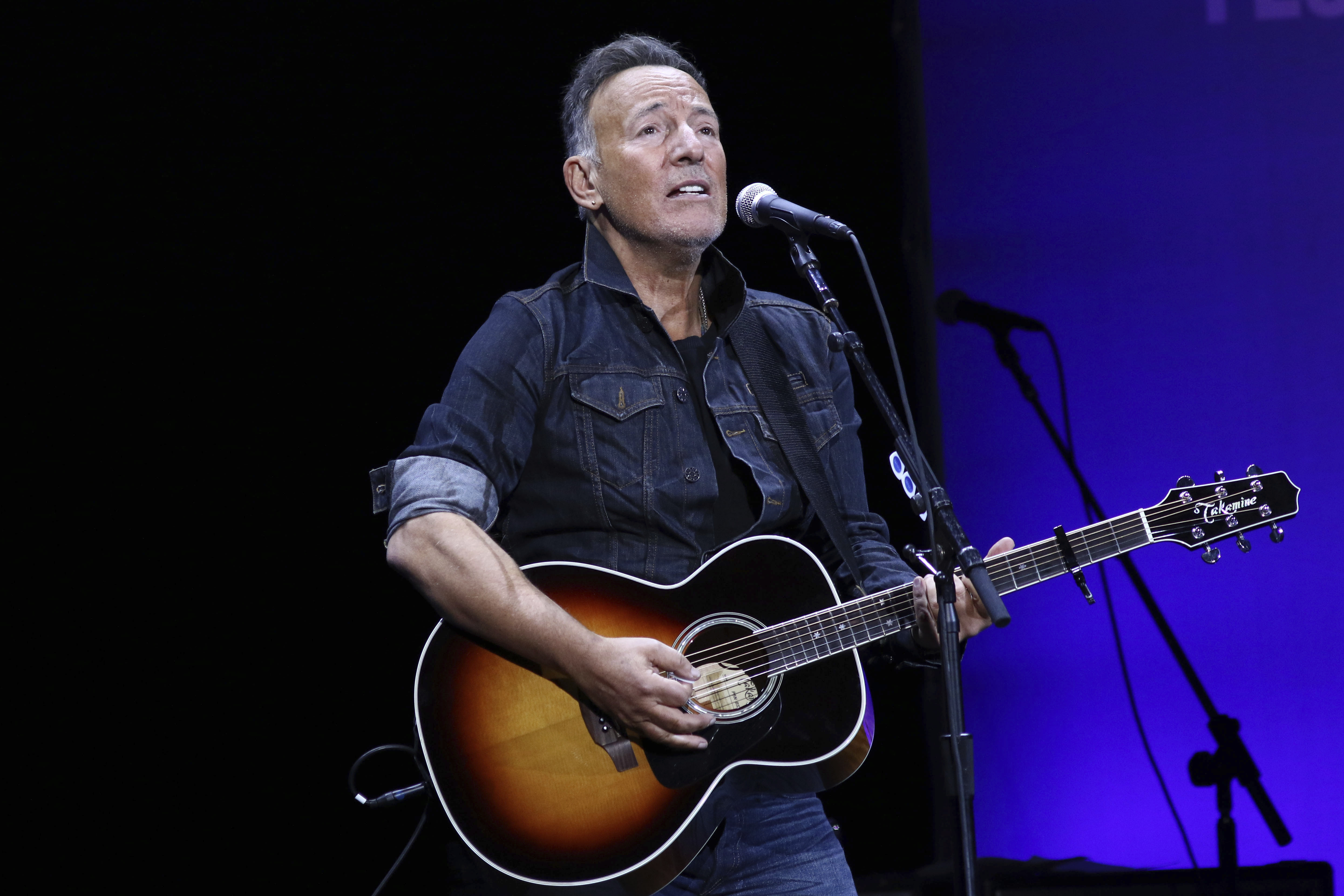 Bruce Springsteen performs at the 13th annual Stand Up For Heroes benefit concert in support of the Bob Woodruff Foundation in New York on Nov. 4, 2019.