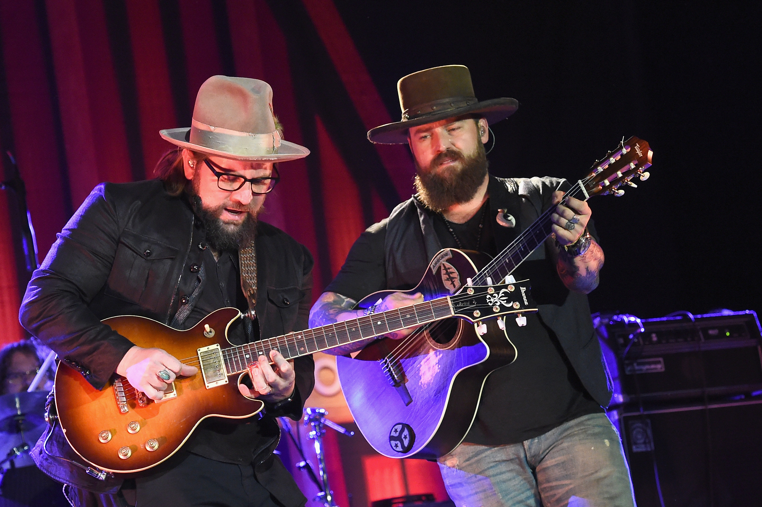 Coy Bowles and Zac Brown of the Zac Brown Band perform during CRS 2017 Day 1 on February 22, 2017 in Nashville, Tennessee.