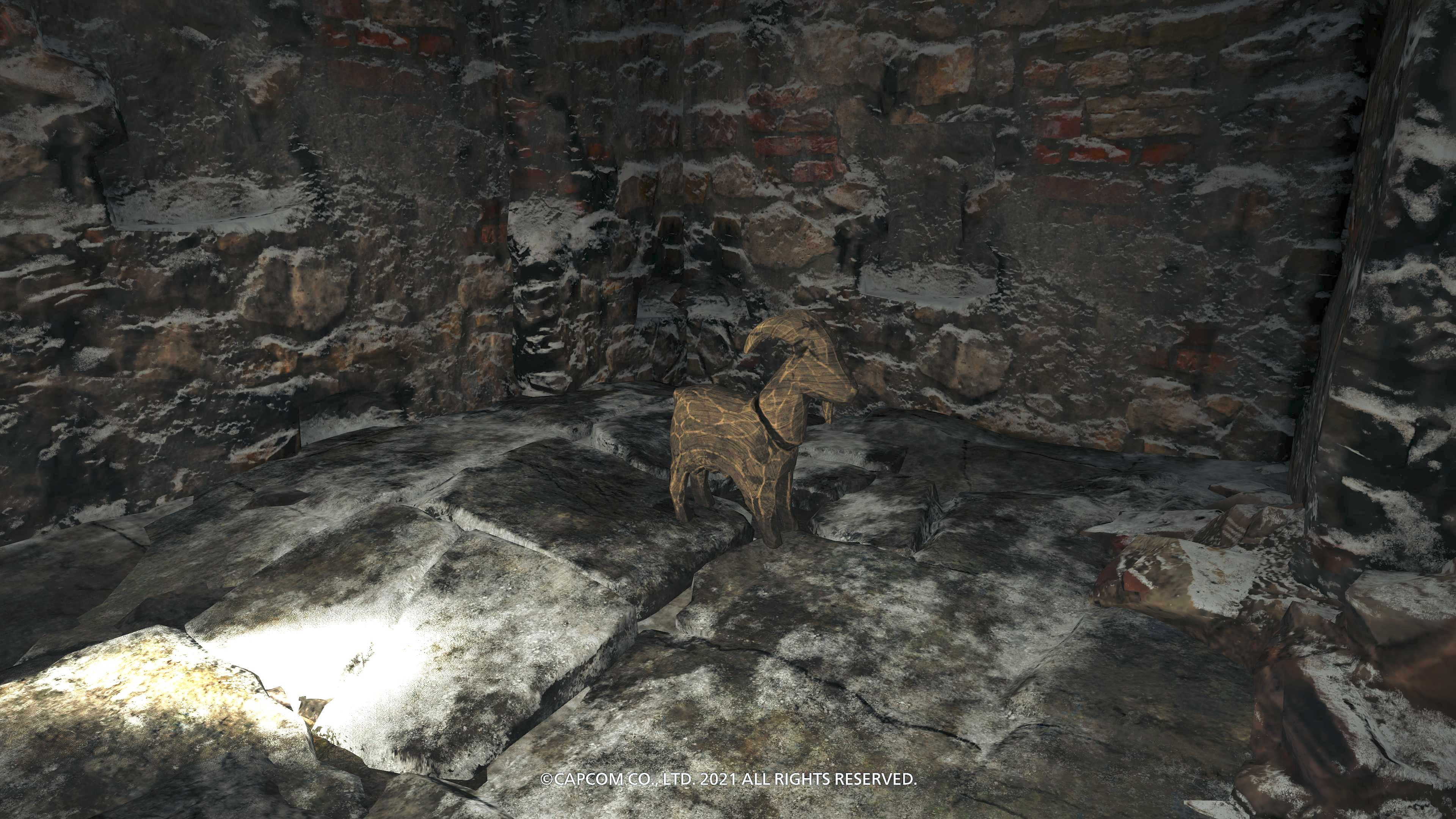 A Goat of Warding collectible item in Resident Evil Village