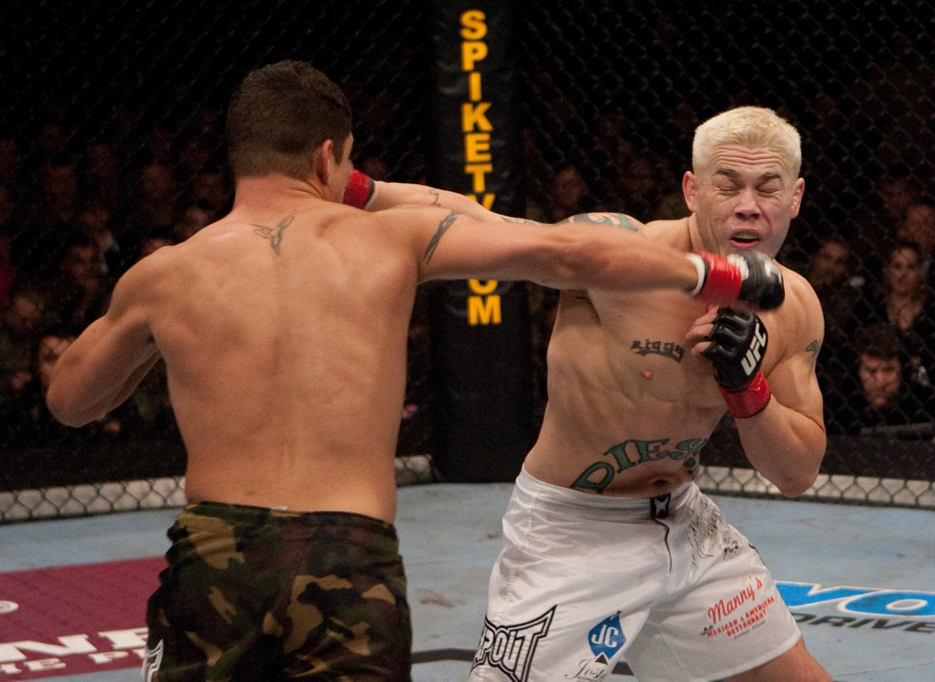 Diego Sanchez delivers a performance to remember against Joe Riggs in their 2006 fight.