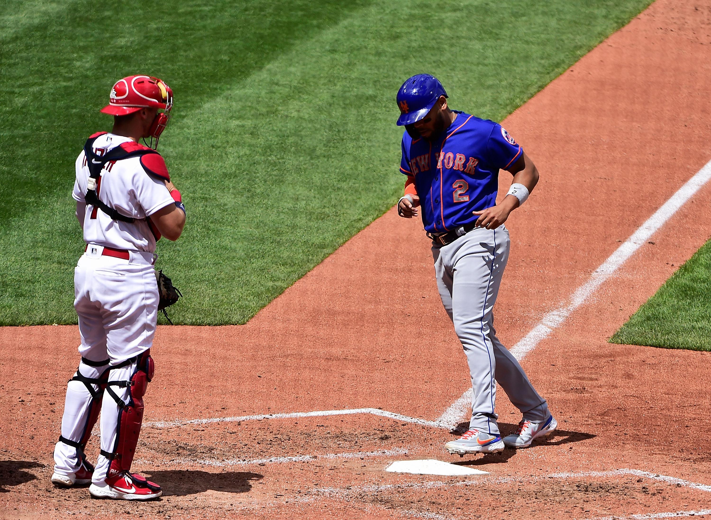 美国职业棒球大联盟:纽约大都会队对阵圣路易斯红雀队
