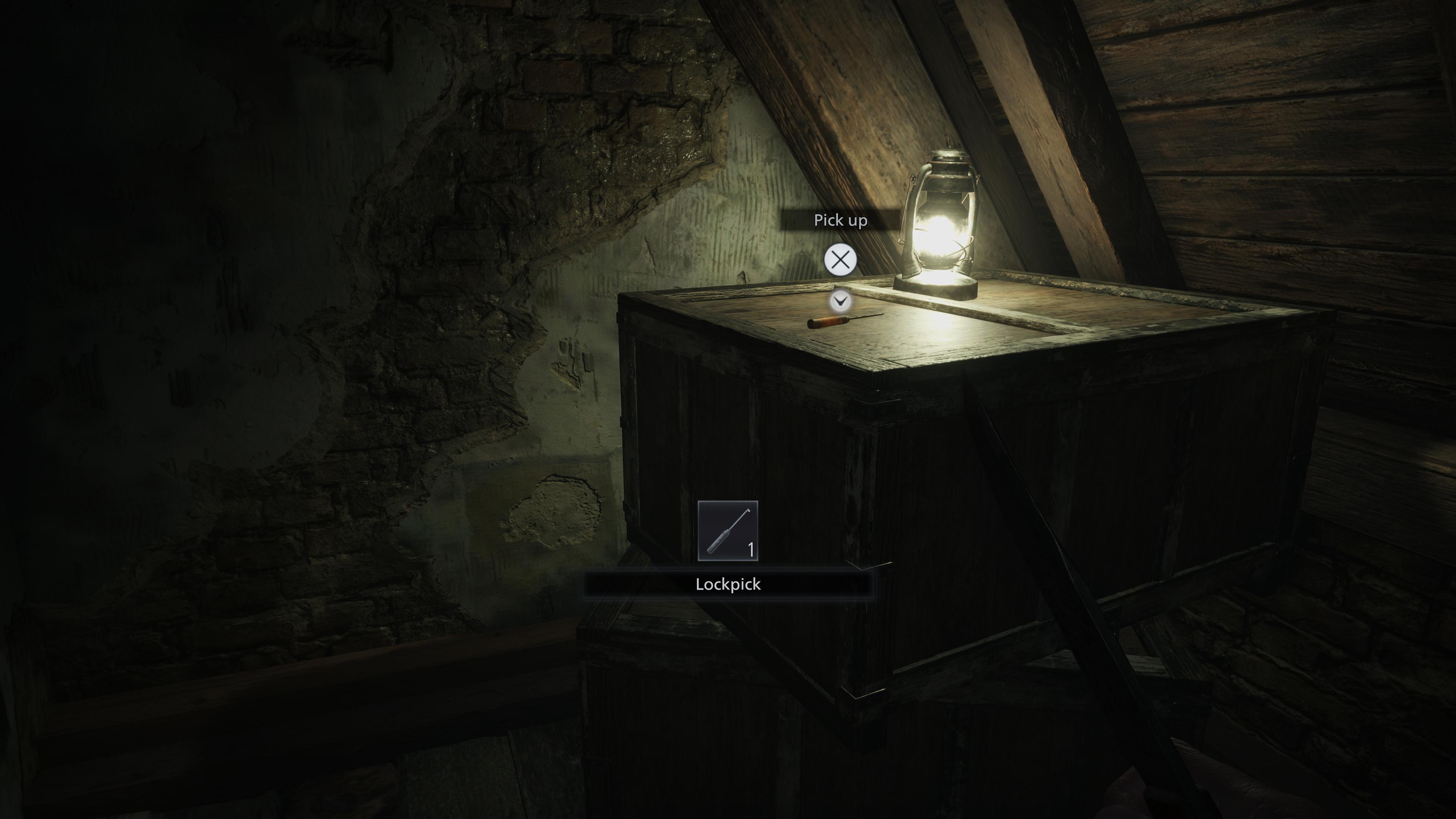 Resident Evil Village attic lockpick